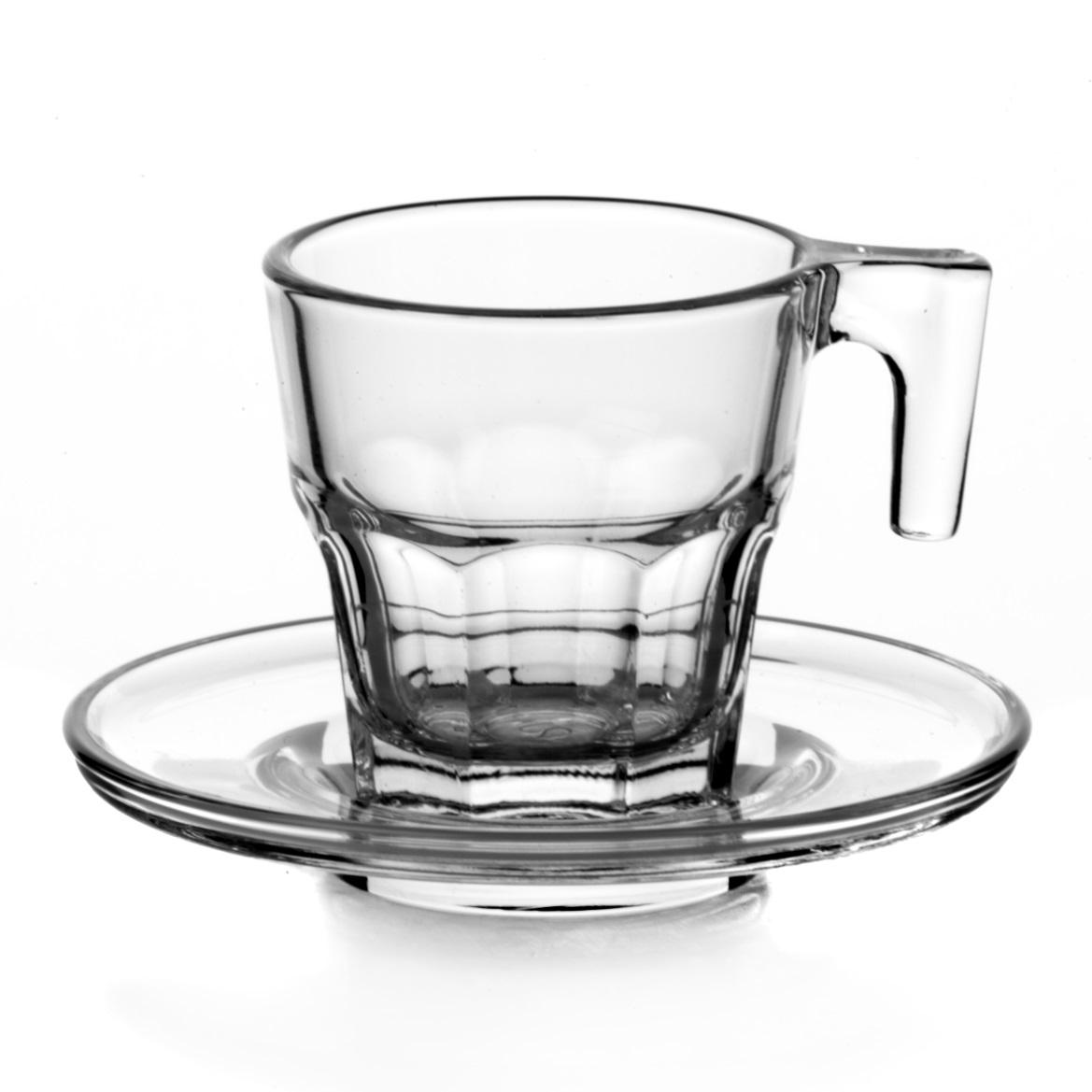 Набор кофейный Pasabahce Casablanka, цвет: прозрачный, 12 предметов95753Кофейный набор Pasabahce Casablanka состоит из 6 кружек и 6 блюдец, выполненных из натрий-кальций-силикатного стекла. Изделия сочетают в себе изысканный дизайн и функциональность. Благодаря такому набору пить кофе будет еще вкуснее. Кофейный набор Pasabahce Casablanka прекрасно оформит праздничный стол и создаст приятную атмосферу за ужином. Такой набор также станет хорошим подарком к любому случаю. Можно мыть в посудомоечной машине. Количество кружек: 6 шт. Диаметр кружки (по верхнему краю): 5,5 см. Высота кружки: 6 см. Объем кружки: 70 мл. Количество блюдец: 6 шт. Диаметр блюдца: 8 см.