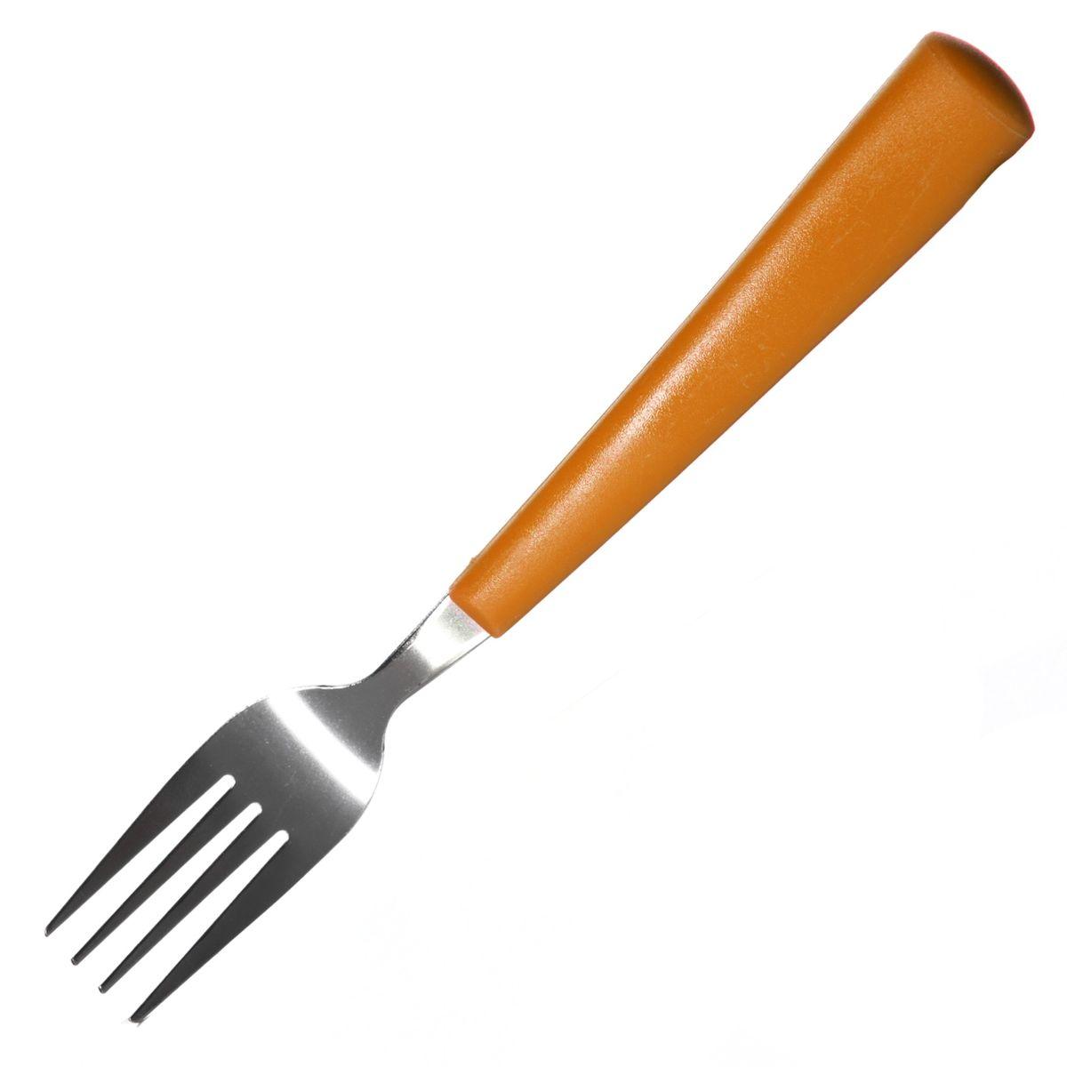 Вилка столовая LaSella, цвет: оранжевый, длина 19 смSW225-3ORСтоловая вилка LaSella, выполненная из высококачественной нержавеющей стали, это практичный и симпатичный аксессуар для каждой кухни. Вилка оснащена пластиковой ручкой. Столовая вилка LaSella прекрасно подойдет для сервировки стола, как в домашнем быту, так и в профессиональных заведениях - кафе, ресторанах. Длина вилки: 19 см. Размер рабочей поверхности: 8 см.