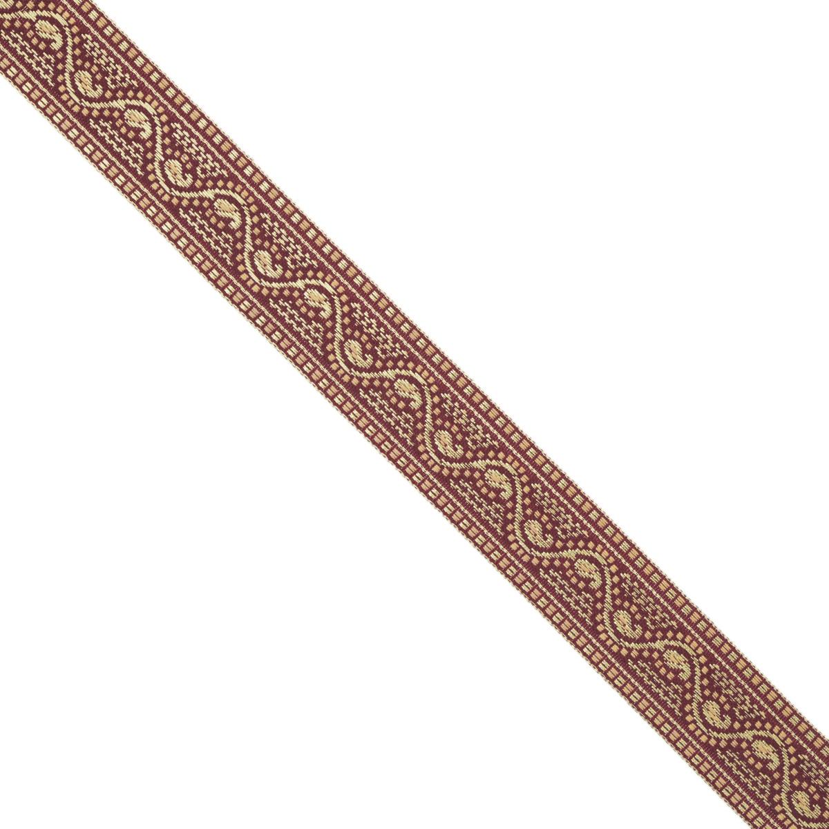 Тесьма декоративная Астра, цвет: бордовый (А23), ширина 2,5 см, длина 16,4 м. 77033397703339_А23Декоративная тесьма Астра выполнена из текстиля и оформлена оригинальным орнаментом. Такая тесьма идеально подойдет для оформления различных творческих работ таких, как скрапбукинг, аппликация, декор коробок и открыток и многое другое. Тесьма наивысшего качества и практична в использовании. Она станет незаменимым элементом в создании рукотворного шедевра. Ширина: 2,5 см. Длина: 16,4 м.