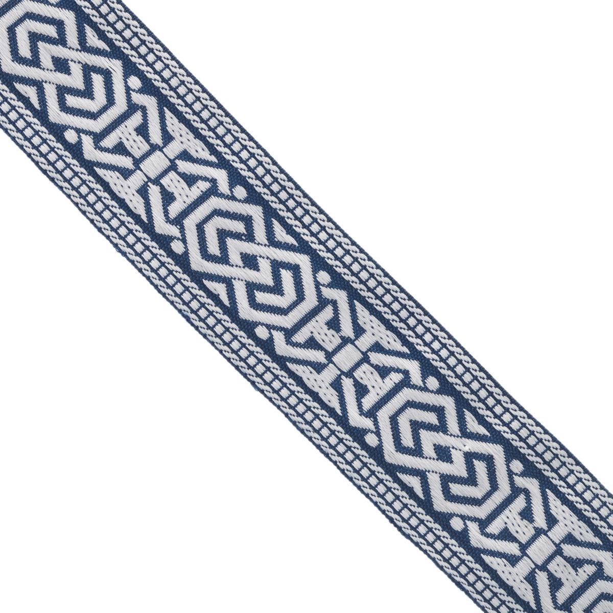 Тесьма декоративная Астра, цвет: синий (90), ширина 3 см, длина 16,4 м. 77033377703337_white/90Декоративная тесьма Астра выполнена из текстиля и оформлена оригинальным орнаментом. Такая тесьма идеально подойдет для оформления различных творческих работ таких, как скрапбукинг, аппликация, декор коробок и открыток и многое другое. Тесьма наивысшего качества и практична в использовании. Она станет незаменимым элементом в создании рукотворного шедевра. Ширина: 3 см. Длина: 16,4 м.
