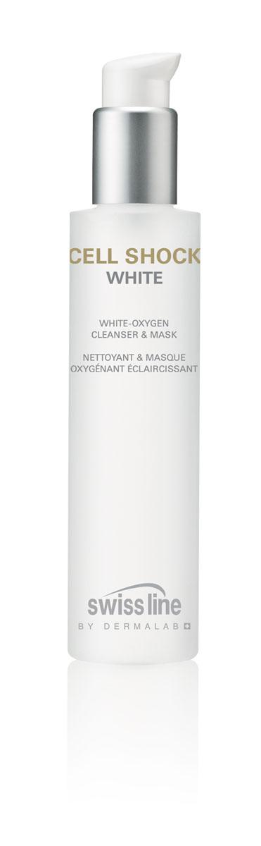 Swiss Line Cell Shock White Маска для лица очищающая и выравнивающая тон кожи, 150 мл