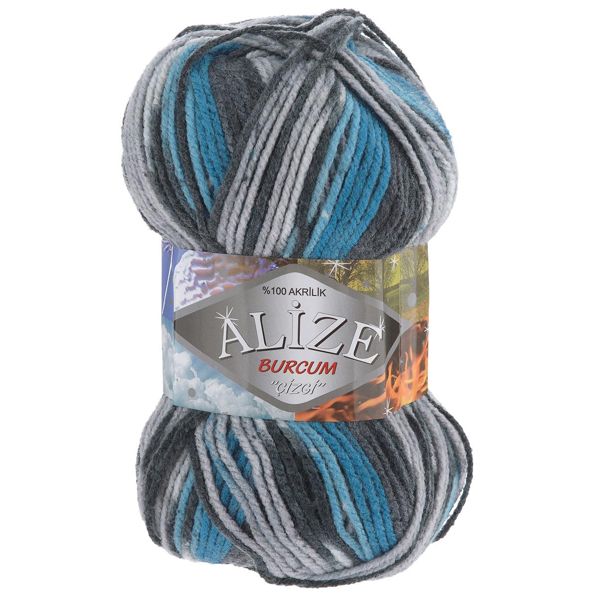 Пряжа для вязания Alize Burсum Cizgi, цвет: бирюзовый, серый, темно-синий (4312), 210 м, 100 г, 5 шт364117_4312Пряжа Alize Burсum Cizgi - это классическая демисезонная пряжа секционного крашения. В процессе вязания нить превращается в оригинальный узор в стиле «жаккард». Петли ложатся ровно, полотно не «косит», нитка не перекручивается. Вещи, связанные из такой пряжи, приятны к коже, не колются, не линяют, не теряют своей формы. Пряжа идеальна для свитеров, жилетов, шарфов, шапок, пледов и пр. Рекомендованные спицы для вязания 4-6 мм. Состав: 100% акрил.