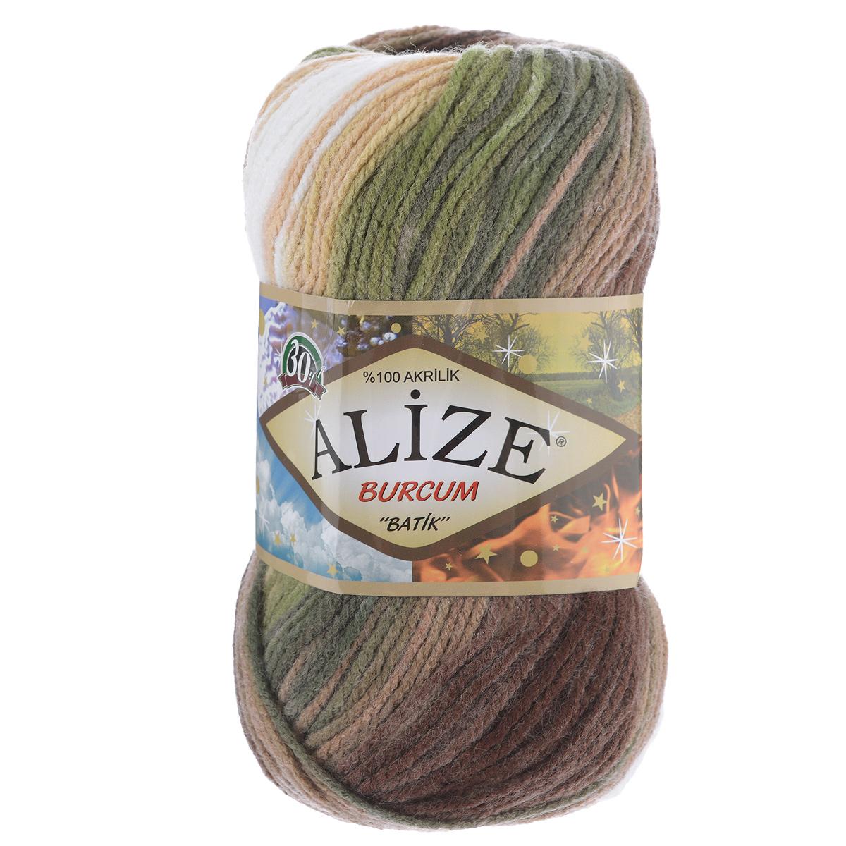 Пряжа для вязания Alize Burсum Batik, цвет: белый, болотный, бежевый (1893), 210 м, 100 г, 5 шт364118_1893Пряжа Alize Burсum Batik - это классическая демисезонная пряжа секционного крашения. Она мягкая, «нескрипучая». Нить плотно скручена, после распускания не деформируется. Связанные вещи не колются, не линяют, не теряют своей формы, не образуют катышков. Такую пряжу можно даже использовать для вязания детской одежды. Пряжа Alize Burсum Batik идеальна для создания свитеров, регланов, жилетов, кардиганов, шарфов, шапок, аксессуаров, пледов и др. Рекомендованные спицы для вязания 4-6 мм. Состав: 100% акрил.