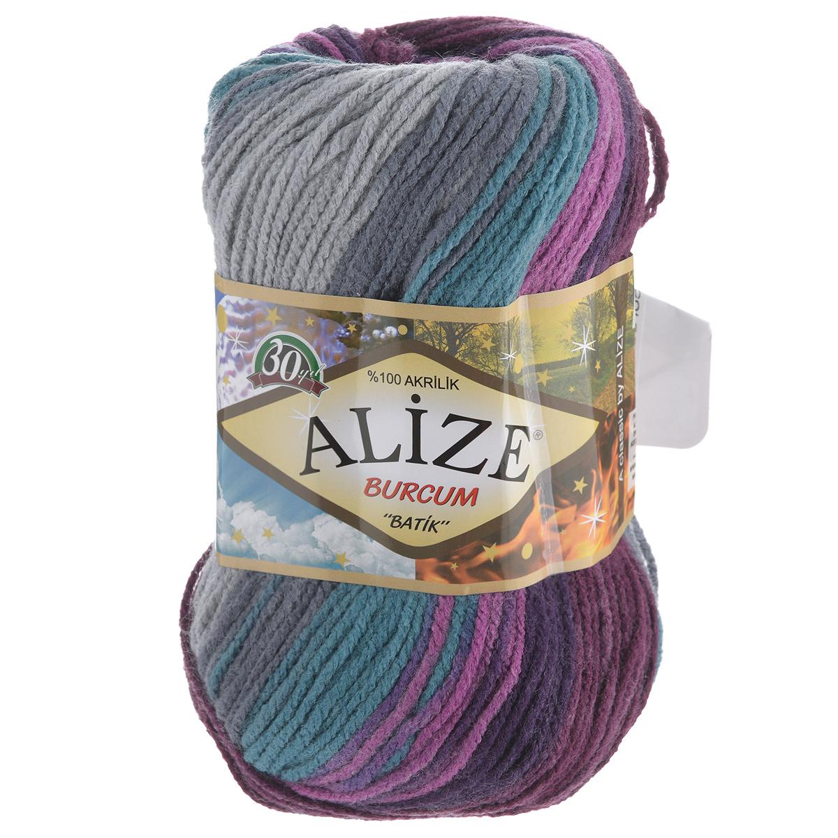 Пряжа для вязания Alize Burсum Batik, цвет: фиолетовый, серый, темно-зеленый (3366), 210 м, 100 г, 5 шт364118_3366Пряжа Alize Burсum Batik - это классическая демисезонная пряжа секционного крашения. Она мягкая, «нескрипучая». Нить плотно скручена, после распускания не деформируется. Связанные вещи не колются, не линяют, не теряют своей формы, не образуют катышков. Такую пряжу можно даже использовать для вязания детской одежды. Пряжа Alize Burсum Batik идеальна для создания свитеров, регланов, жилетов, кардиганов, шарфов, шапок, аксессуаров, пледов и др. Рекомендованные спицы для вязания 4-6 мм. Состав: 100% акрил.