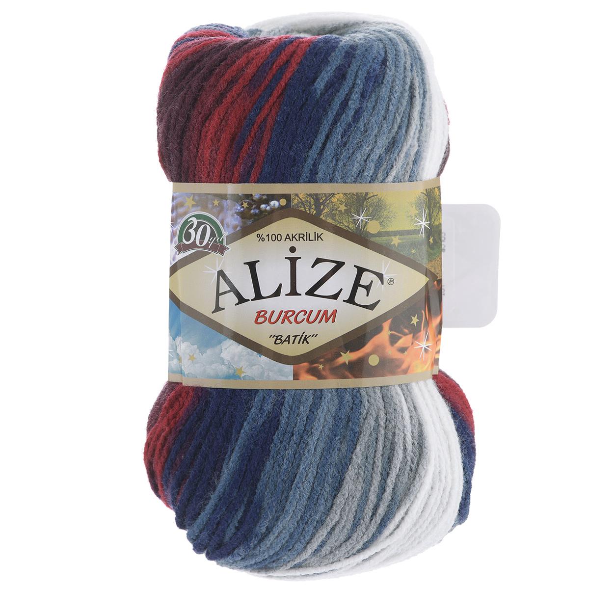 Пряжа для вязания Alize Burсum Batik, цвет: синий, белый, бордовый (2978), 210 м, 100 г, 5 шт364118_2978Пряжа Alize Burсum Batik - это классическая демисезонная пряжа секционного крашения. Она мягкая, «нескрипучая». Нить плотно скручена, после распускания не деформируется. Связанные вещи не колются, не линяют, не теряют своей формы, не образуют катышков. Такую пряжу можно даже использовать для вязания детской одежды. Пряжа Alize Burсum Batik идеальна для создания свитеров, регланов, жилетов, кардиганов, шарфов, шапок, аксессуаров, пледов и др. Рекомендованные спицы для вязания 4-6 мм. Состав: 100% акрил.