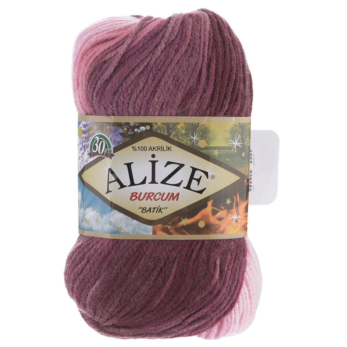 Пряжа для вязания Alize Burсum Batik, цвет: розовый, светло-розовый, бордовый (1895), 210 м, 100 г, 5 шт364118_1895Пряжа Alize Burсum Batik - это классическая демисезонная пряжа секционного крашения. Она мягкая, «нескрипучая». Нить плотно скручена, после распускания не деформируется. Связанные вещи не колются, не линяют, не теряют своей формы, не образуют катышков. Такую пряжу можно даже использовать для вязания детской одежды. Пряжа Alize Burсum Batik идеальна для создания свитеров, регланов, жилетов, кардиганов, шарфов, шапок, аксессуаров, пледов и др. Рекомендованные спицы для вязания 4-6 мм. Состав: 100% акрил.