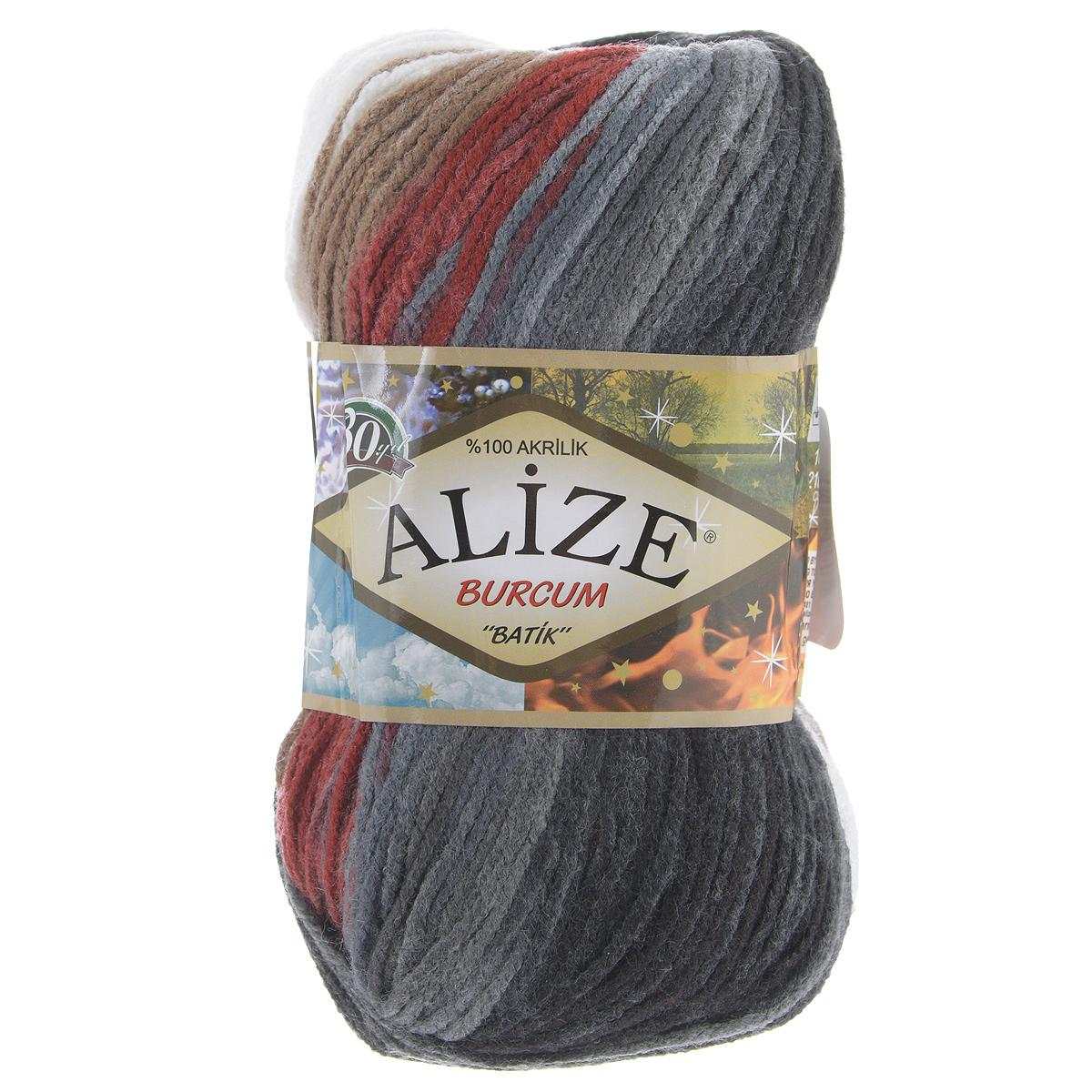 Пряжа для вязания Alize Burсum Batik, цвет: синий, красный, белый (3375), 210 м, 100 г, 5 шт364118_3376Пряжа Alize Burсum Batik - это классическая демисезонная пряжа секционного крашения. Она мягкая, «нескрипучая». Нить плотно скручена, после распускания не деформируется. Связанные вещи не колются, не линяют, не теряют своей формы, не образуют катышков. Такую пряжу можно даже использовать для вязания детской одежды. Пряжа Alize Burсum Batik идеальна для создания свитеров, регланов, жилетов, кардиганов, шарфов, шапок, аксессуаров, пледов и др. Рекомендованные спицы для вязания 4-6 мм. Состав: 100% акрил.