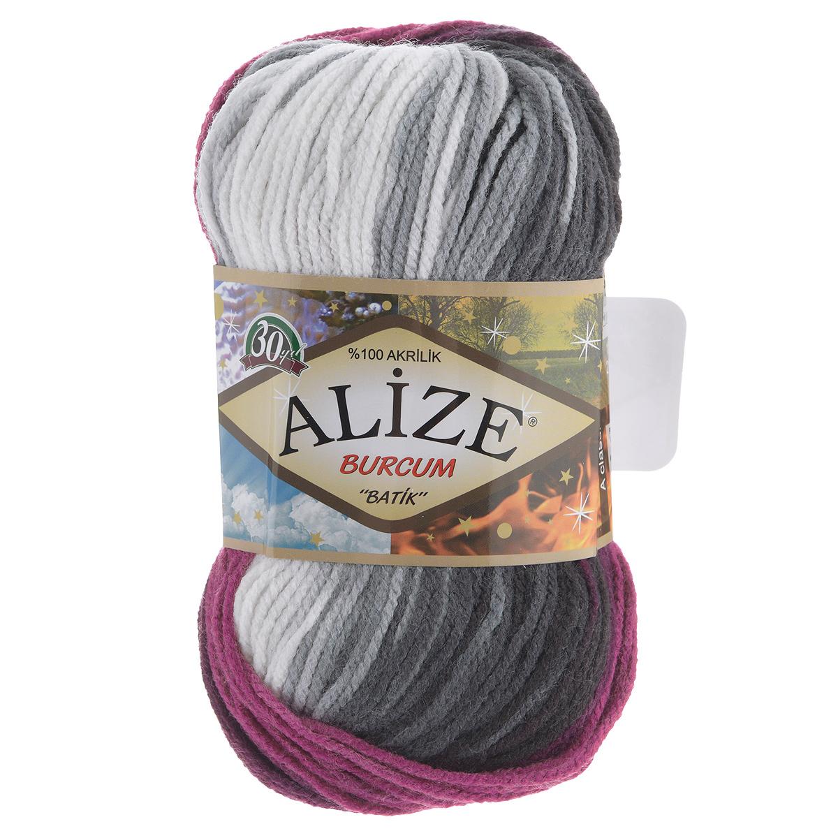 Пряжа для вязания Alize Burсum Batik, цвет: малиновый, белый, черный (4202), 210 м, 100 г, 5 шт364118_4202Пряжа Alize Burсum Batik - это классическая демисезонная пряжа секционного крашения. Она мягкая, «нескрипучая». Нить плотно скручена, после распускания не деформируется. Связанные вещи не колются, не линяют, не теряют своей формы, не образуют катышков. Такую пряжу можно даже использовать для вязания детской одежды. Пряжа Alize Burсum Batik идеальна для создания свитеров, регланов, жилетов, кардиганов, шарфов, шапок, аксессуаров, пледов и др. Рекомендованные спицы для вязания 4-6 мм. Состав: 100% акрил.