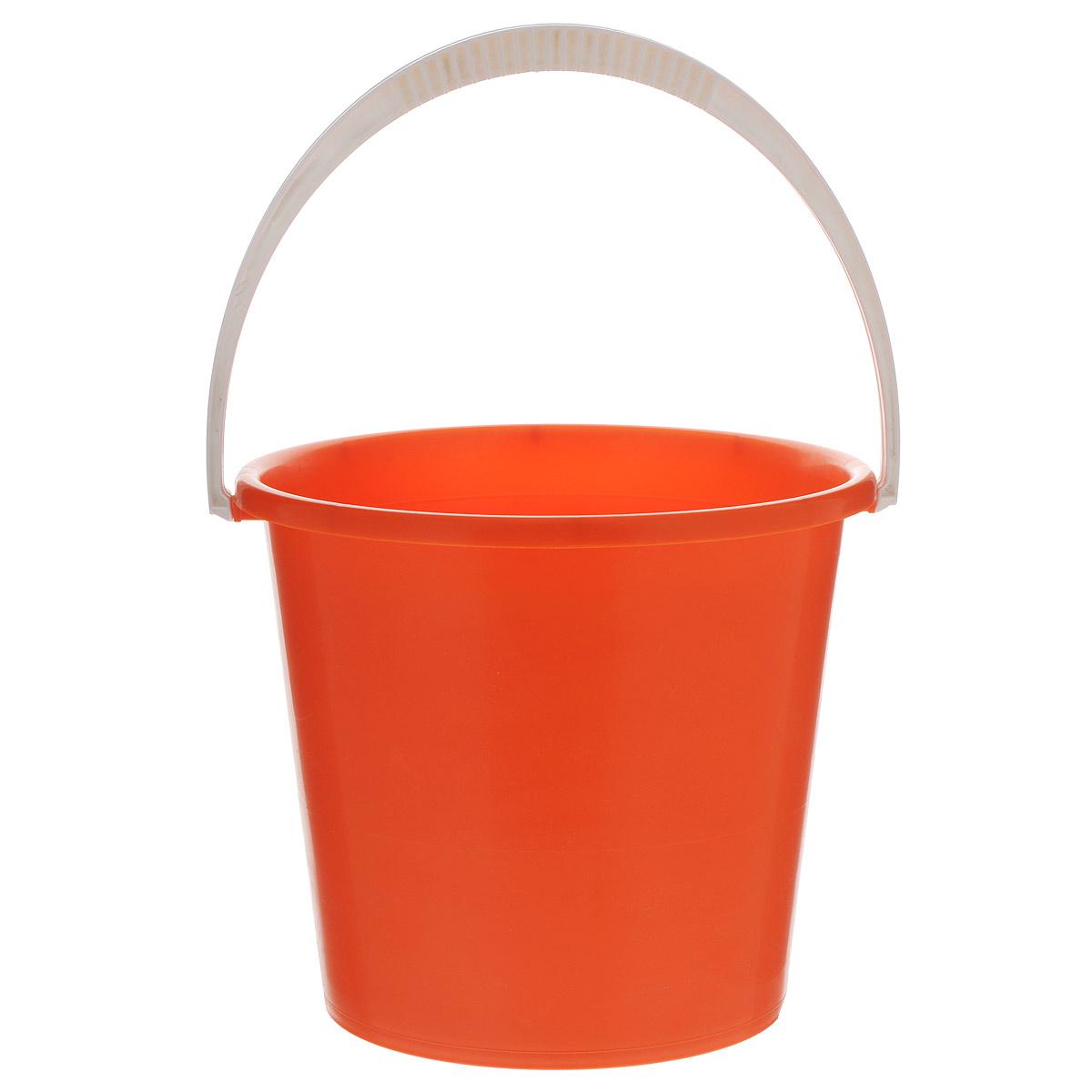 Ведро Альтернатива Крепыш, цвет: оранжевый, 7 лК342Ведро Альтернатива Крепыш изготовлено из высококачественного одноцветного пластика. Оно легче железного и не подвержено коррозии. Ведро оснащено удобной пластиковой ручкой. Такое ведро станет незаменимым помощником в хозяйстве. Диаметр: 25 см. Высота: 22 см.