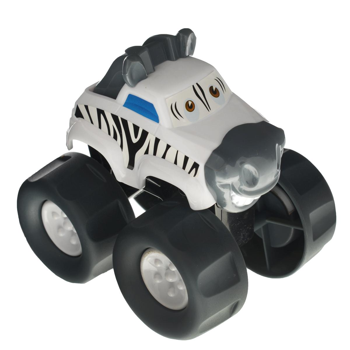 Playgo Развивающая игрушка Машинка-зебраPlay 20285/4Развивающая игрушка Playgo Машинка-зебра понравится вашему малышу. Машинка выполнена из безопасного пластика; корпус стилизован под зебру. Большие колеса с крупным протектором обеспечивают хорошую проходимость. Такая игрушка способствует развитию у малыша тактильных ощущений, мелкой моторики рук и координации движений.
