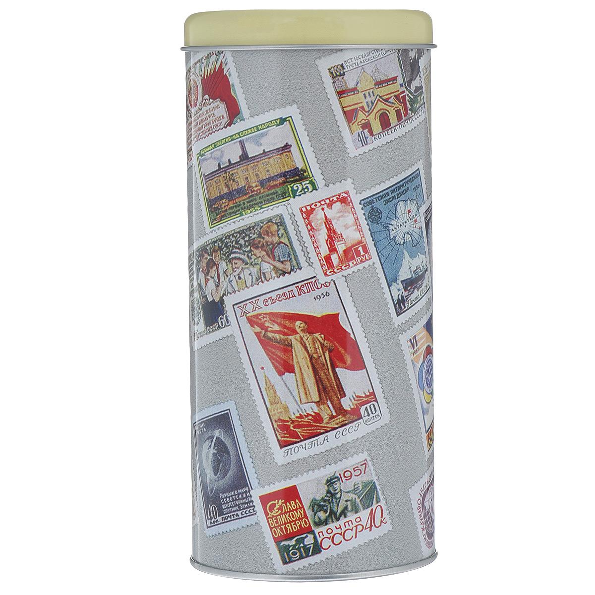 Банка для сыпучих продуктов Почтовые марки, 750 мл37623маркиБанка для сыпучих продуктов Почтовые марки изготовлена из металла и оснащена крышкой. Корпус банки оформлен рисунком с изображением различных почтовых марок. Изделие идеально подойдет для хранения чая, кофе, сахара или других сыпучих продуктов. Банка сохраняет продукты свежими и ароматными на длительное время. Функциональная и вместительная, такая банка станет незаменимым аксессуаром и стильно оформит интерьер кухни. Объем: 750 мл.