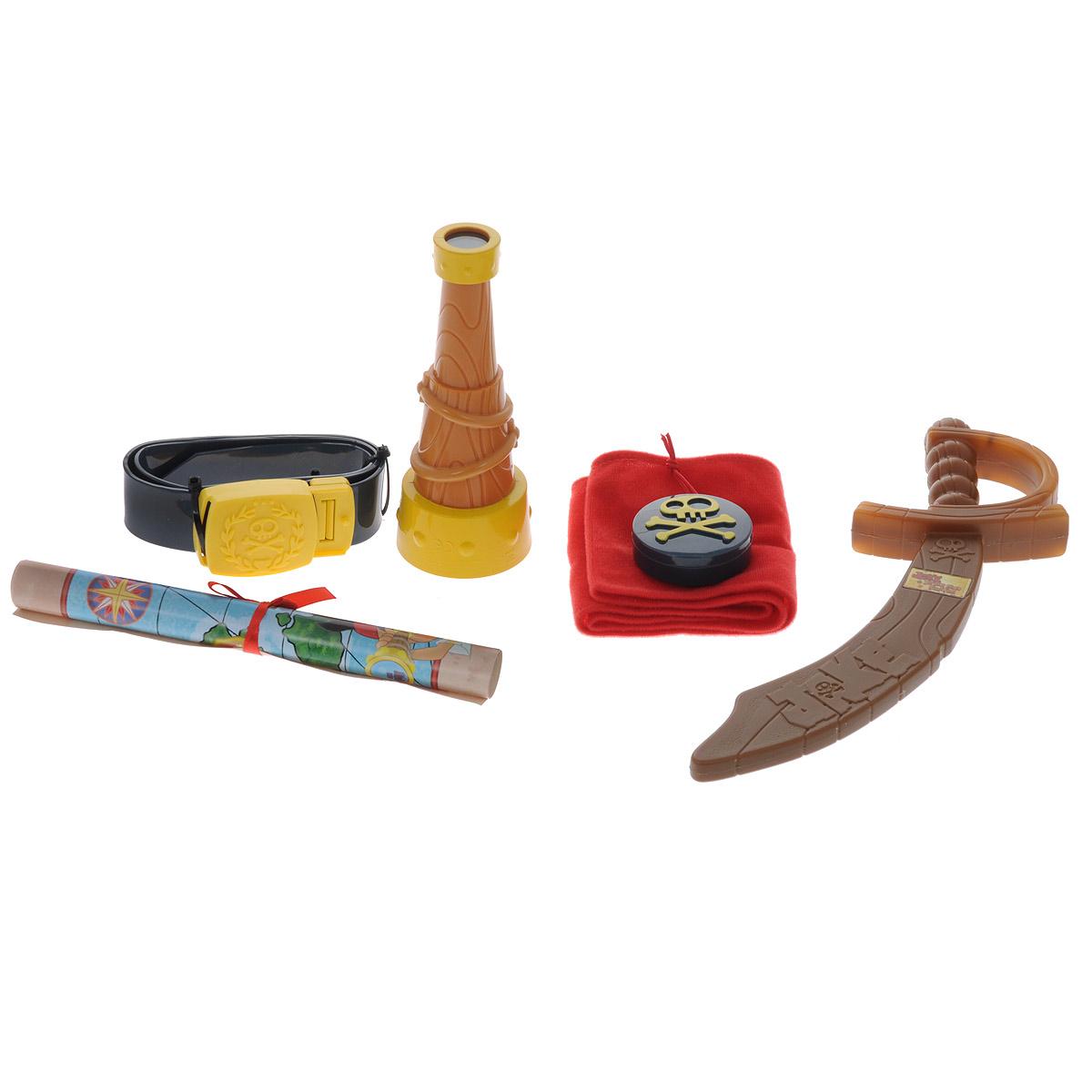 Jake&Neverland Pirates Игровой набор пирата260153Игровой набор Jake&Neverland Pirates позволит вашему ребенку перевоплотиться в настоящего пирата Джейка. Набор выполнен из безопасных материалов и включает пластиковые саблю, подзорную трубу, компас и пояс пирата, а также текстильную бандану и настоящую карту сокровищ! Элементы набора упакованы в картонный сундук с имитацией пластикового замка. С обеих сторон сундук дополнен текстильными ручками. Благодаря этому набору малыш ощутит себя настоящим корсаром!