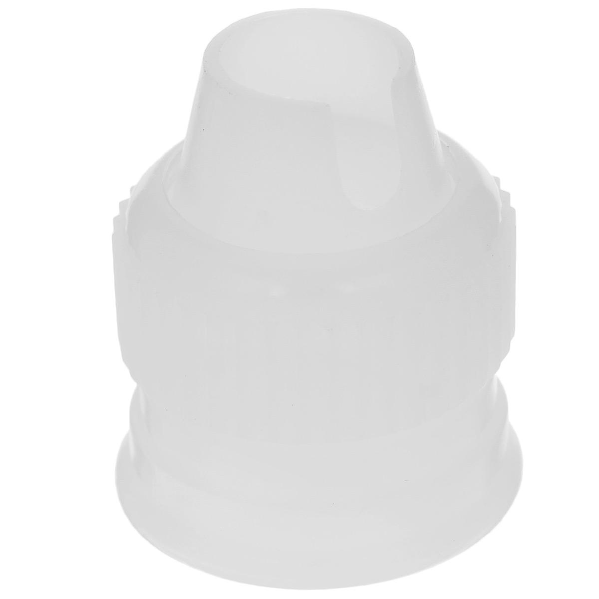 Фиксатор насадки Wilton Стандартный, цвет: белый, на подвесеWLT-418-1987Фиксатор насадки Wilton Стандартный выполнен из пищевого пластика и предназначен для стандартных кондитерских мешков. Фиксатор используется как переходник. А насадка вместе с кондитерским мешком поможет создать на выпечке удивительные рисунки кремом. С этим фиксатором готовить станет намного удобнее! Диаметр основания фиксатора: 2 см. Длина фиксатора: 3 см. Насадка в комплект не входит.