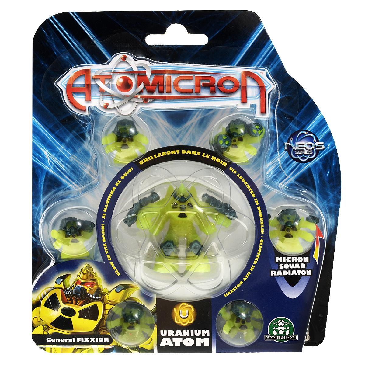 Набор фигурок Atomicron Uranium Atom, 7 штGPH18500Набор Atomicron Uranium Atom включает 7 пластиковых фигурок в виде 6 солдат и мощного генерала, принадлежащих армии Урана. Фигурки светятся в темноте. В Atomicron персонажи представлены классами химических элементов и их противоположностей. Таким образом, дети знакомятся с миром химии посредством увлекательной игры! Соберите все армии союзов Материи и их грозных противников - Антиматерии, чтобы устроить эпичное миниатюрное сражение за мир и порядок во вселенной!