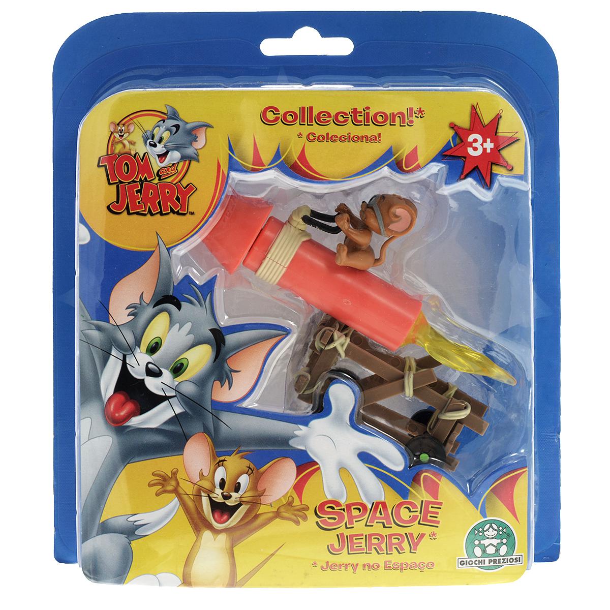 Игровой набор Tom and Jerry Space JerryGPH15054_Space JerryИгровой набор Tom and Jerry Space Jerry выполнен из яркого пластика и включает ракету с мышкой Джерри на ней и тележку для перевозки ракеты. Джерри - персонаж популярного мультсериала Том и Джерри (Tom and Jerry). Ракета легко закрепляется на тележке. Благодаря маленькому размеру игрушек ребенок сможет взять их с собой на прогулку или в гости. Замечательный подарок поклоннику знаменитого мультсериала!
