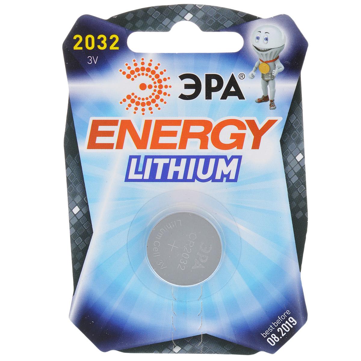 Батарейка литиевая ЭРА Energy, тип CR2032 (1BL), 3В5055398601112Литиевые батарейки ЭРА Energy оптимально подходят для повседневного питания множества современных бытовых приборов: электронных игрушек, фонарей, беспроводной компьютерной периферии и многого другого. Батарейки созданы для устройств со средним и высоким потреблением энергии. Работают в 10 раз дольше, чем обычные солевые элементы питания. Диаметр батарейки: 2 см.