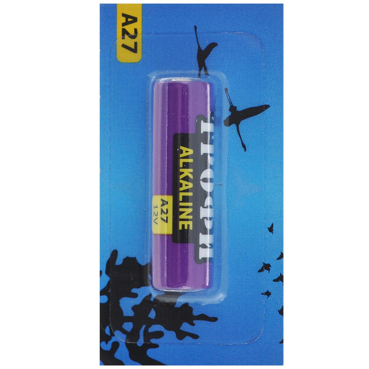 Батарейка алкалиновая Трофи, тип A27 (5BL), 12В