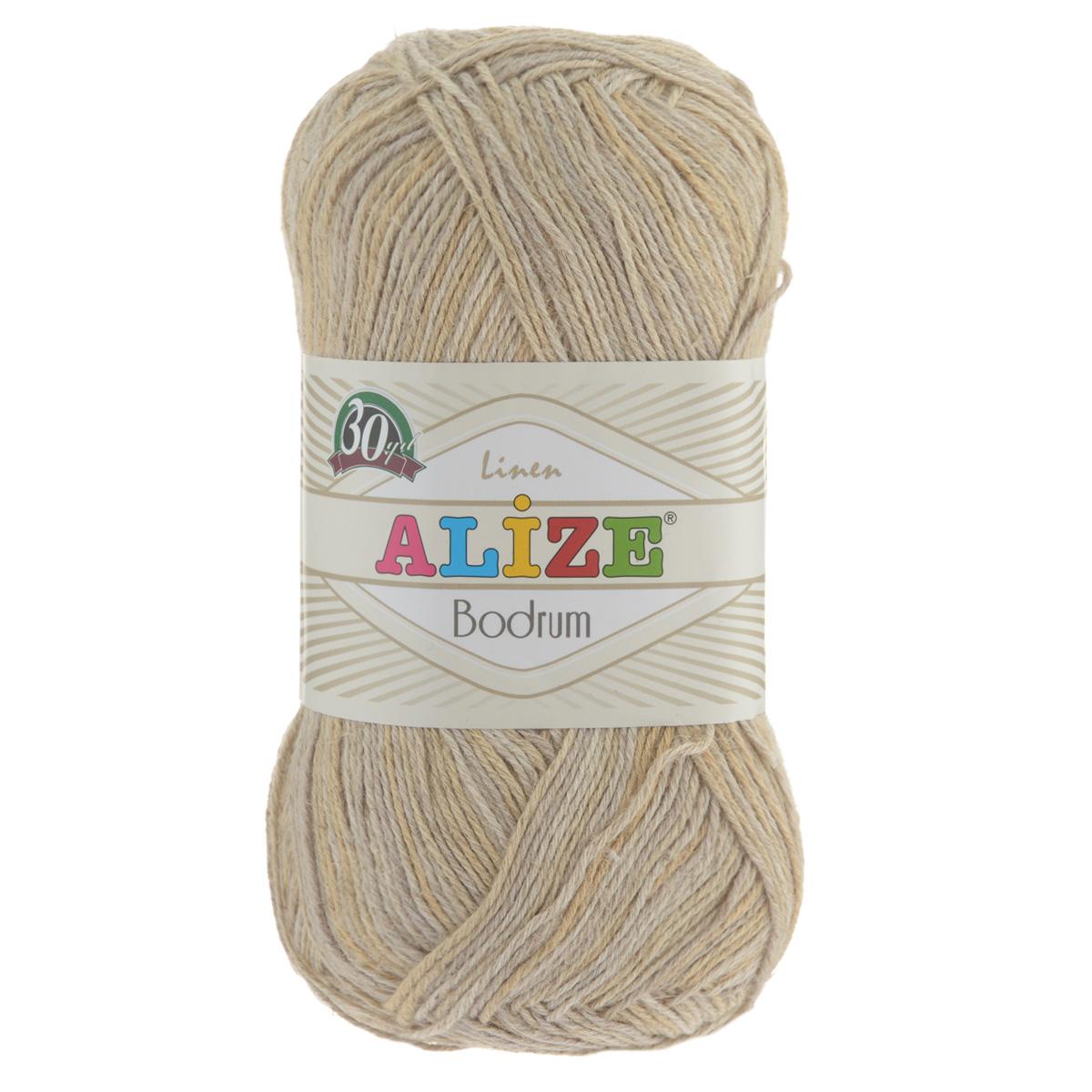 Пряжа для вязания Alize Bodrum, цвет: бежевый, серый (51398), 280 м, 100 г, 5 шт697547_51398Пряжа для вязания Alize Bodrum с натуральной цветовой гаммой подходит для ручного вязания детям и взрослым. Приятная на ощупь нить сочетает в себе лен и полиэстер. Такая пряжа идеально подойдет для вязания весенних и летних изделий. Рекомендованные спицы 3-5 мм и крючок для вязания 2-3 мм. Комплектация: 5 мотков. Состав: 48% лен, 52% полиэстер. Рекомендована ручная стирка.