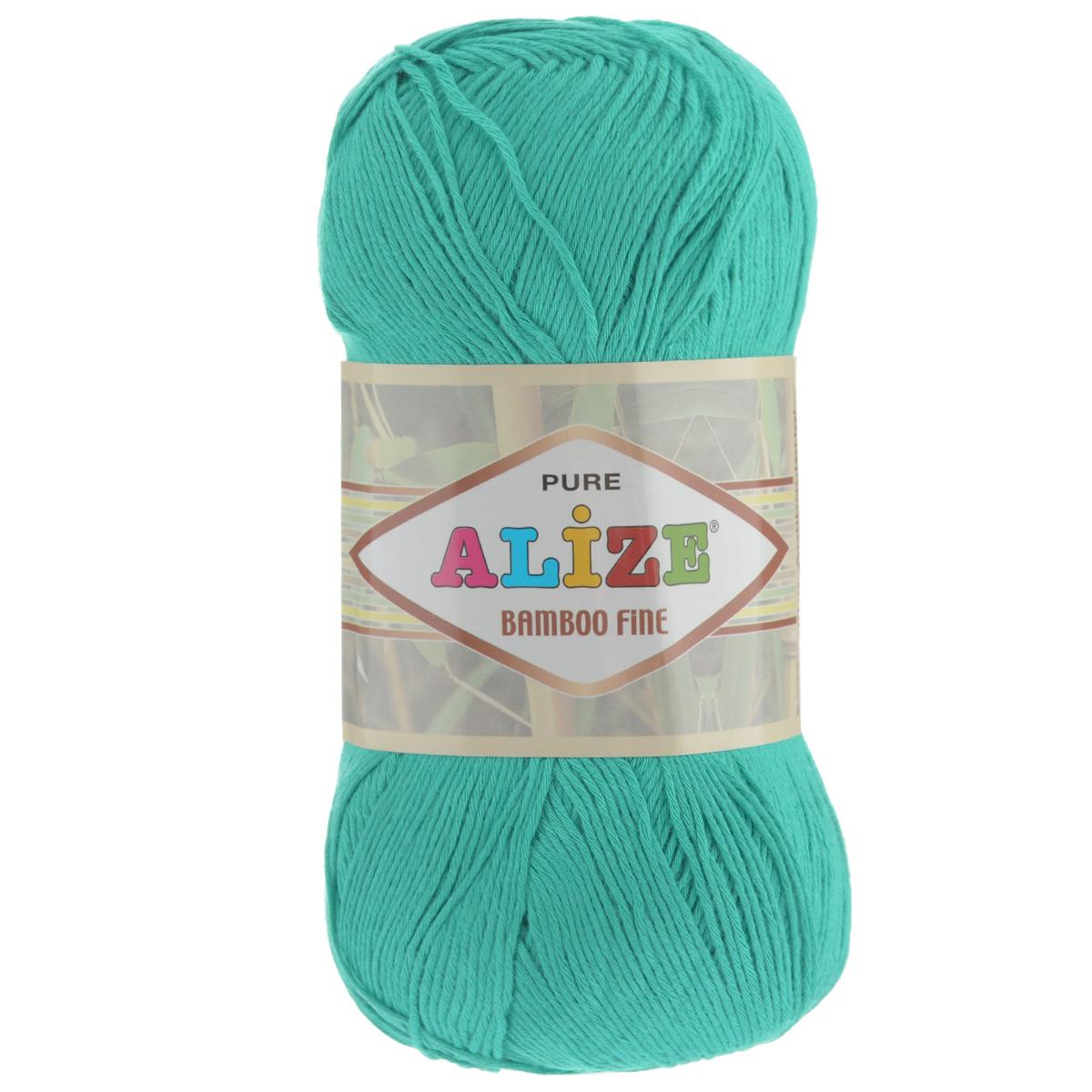 Пряжа для вязания Alize Bamboo Fine, цвет: светло-бирюзовый (610), 440 м, 100 г, 5 шт688988_610Пряжа Alize Bamboo Fine подходит для ручного вязания детям и взрослым. Пряжа однотонная, приятная на ощупь, хорошо лежит в полотне. Изделия из такой нити получаются мягкие и красивые. Рекомендованные спицы 2,5-3,5 мм и крючок для вязания 1-3 мм. Состав: 100% бамбук.