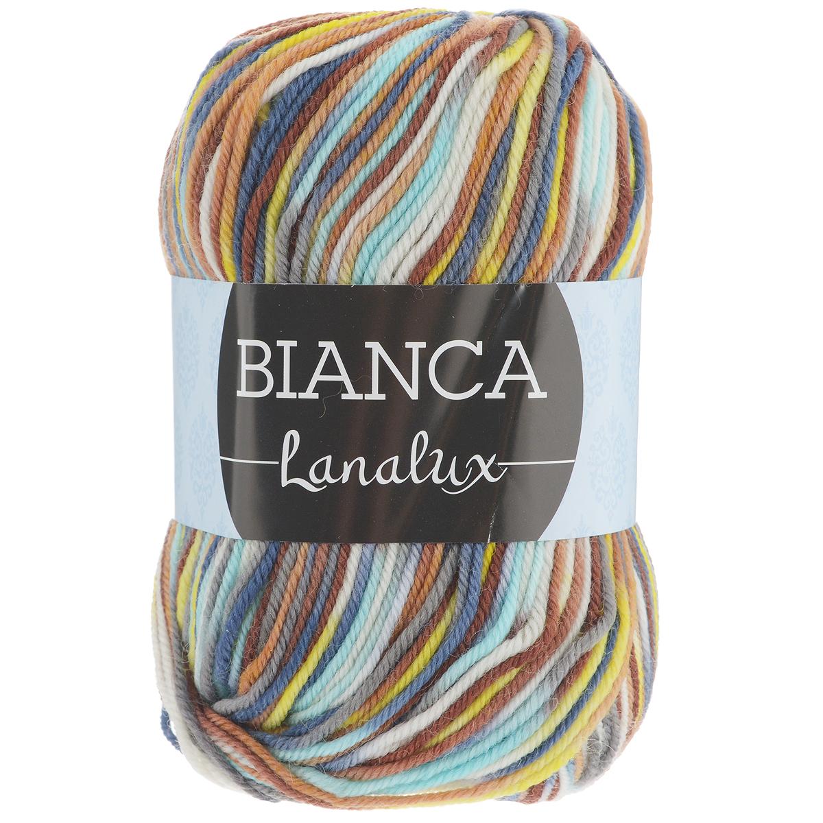 Пряжа для вязания YarnArt Bianca LanaLux, цвет: мультиколор (755), 240 м, 100 г, 5 шт372093_755Классическая пряжа для вязания YarnArt Bianca LanaLux изготовлена из 100% шерсти. Пряжа секционного крашения, мягкая и приятная на ощупь, хорошо лежит в полотне. Теплая, уютная, эта пряжа идеально подходит для вязки демисезонных и зимних вещей. Шапочки, шарфы, снуды, свитера, жилеты вяжутся из этой пряжи быстро и легко. Изделия приятны в носке и долго не теряют форму после ручной стирки. Комплектация: 5 мотков. Состав: 100% шерсть. Рекомендована ручная стирка 30°C. Рекомендованы спицы и крючок 4 мм.