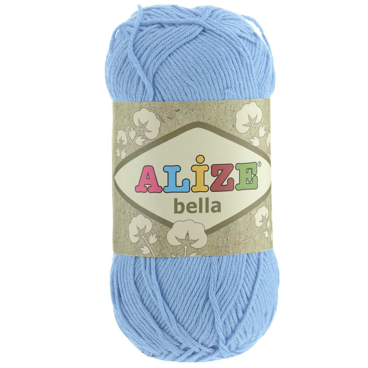 Пряжа для вязания Alize Bella, цвет: голубой (40), 180 м, 50 г, 5 шт364124_40Пряжа Alize Bella подходит для ручного вязания детям и взрослым. Пряжа однотонная, приятная на ощупь, хорошо лежит в полотне. Изделия из такой нити получаются мягкие и красивые. Рекомендованные спицы 2-4 мм и крючок для вязания 1-3 мм. Комплектация: 5 мотков. Состав: 100% хлопок.