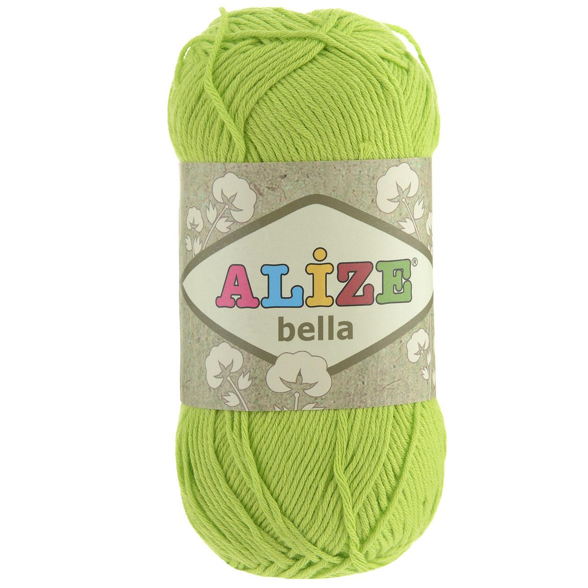 Пряжа для вязания Alize Bella, цвет: салатовый (612), 180 м, 50 г, 5 шт364124_612Пряжа Alize Bella подходит для ручного вязания детям и взрослым. Пряжа однотонная, приятная на ощупь, хорошо лежит в полотне. Изделия из такой нити получаются мягкие и красивые. Рекомендованные спицы 2-4 мм и крючок для вязания 1-3 мм. Комплектация: 5 мотков. Состав: 100% хлопок.