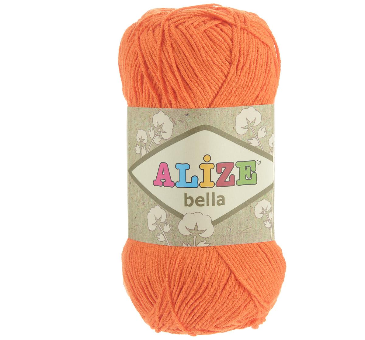 Пряжа для вязания Alize Bella, цвет: оранжевый (487), 180 м, 50 г, 5 шт364124_487Пряжа Alize Bella подходит для ручного вязания детям и взрослым. Пряжа однотонная, приятная на ощупь, хорошо лежит в полотне. Изделия из такой нити получаются мягкие и красивые. Рекомендованные спицы 2-4 мм и крючок для вязания 1-3 мм. Комплектация: 5 мотков. Состав: 100% хлопок.