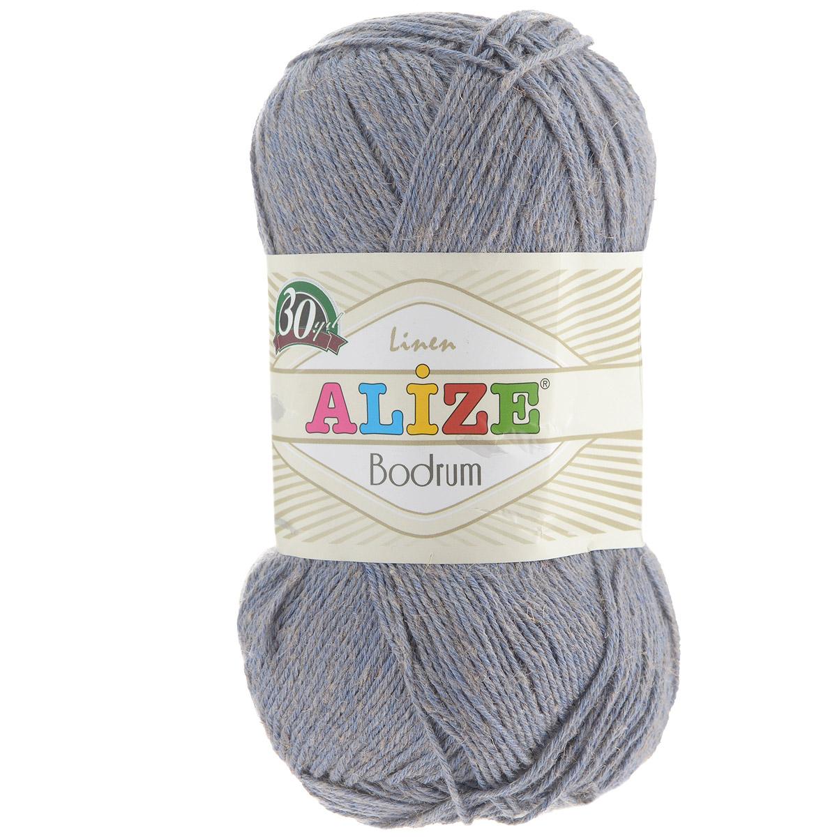 Пряжа для вязания Alize Bodrum, цвет: синий, серый (418), 280 м, 100 г, 5 шт697547_418Пряжа для вязания Alize Bodrum с натуральной цветовой гаммой подходит для ручного вязания детям и взрослым. Приятная на ощупь нить сочетает в себе лен и полиэстер. Такая пряжа идеально подойдет для вязания весенних и летних изделий. Рекомендованные спицы 3-5 мм и крючок для вязания 2-3 мм. Комплектация: 5 мотков. Состав: 48% лен, 52% полиэстер. Рекомендована ручная стирка.