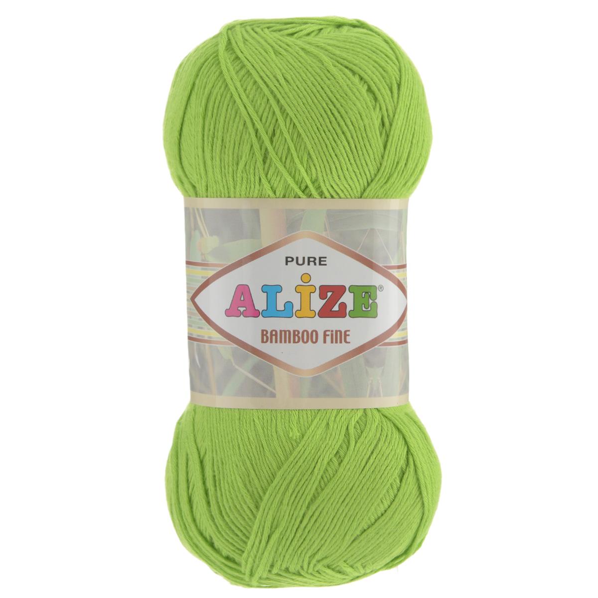 Пряжа для вязания Alize Bamboo Fine, цвет: ярко-зеленый (612), 440 м, 100 г, 5 шт688988_612Пряжа Alize Bamboo Fine подходит для ручного вязания детям и взрослым. Пряжа однотонная, приятная на ощупь, хорошо лежит в полотне. Изделия из такой нити получаются мягкие и красивые. Рекомендованные спицы 2,5-3,5 мм и крючок для вязания 1-3 мм. Состав: 100% бамбук.