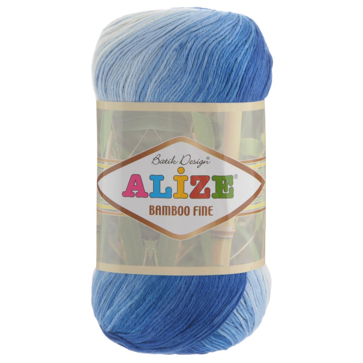 Пряжа для вязания Alize Bamboo Fine, цвет: белый, синий, голубой (1833), 440 м, 100 г, 5 шт688986_1833Пряжа Alize Bamboo Fine подходит для ручного вязания детям и взрослым. Пряжа однотонная, приятная на ощупь, хорошо лежит в полотне. Изделия из такой нити получаются мягкие и красивые. Рекомендованные спицы 2,5-3,5 мм и крючок для вязания 1-3 мм. Состав: 100% бамбук.