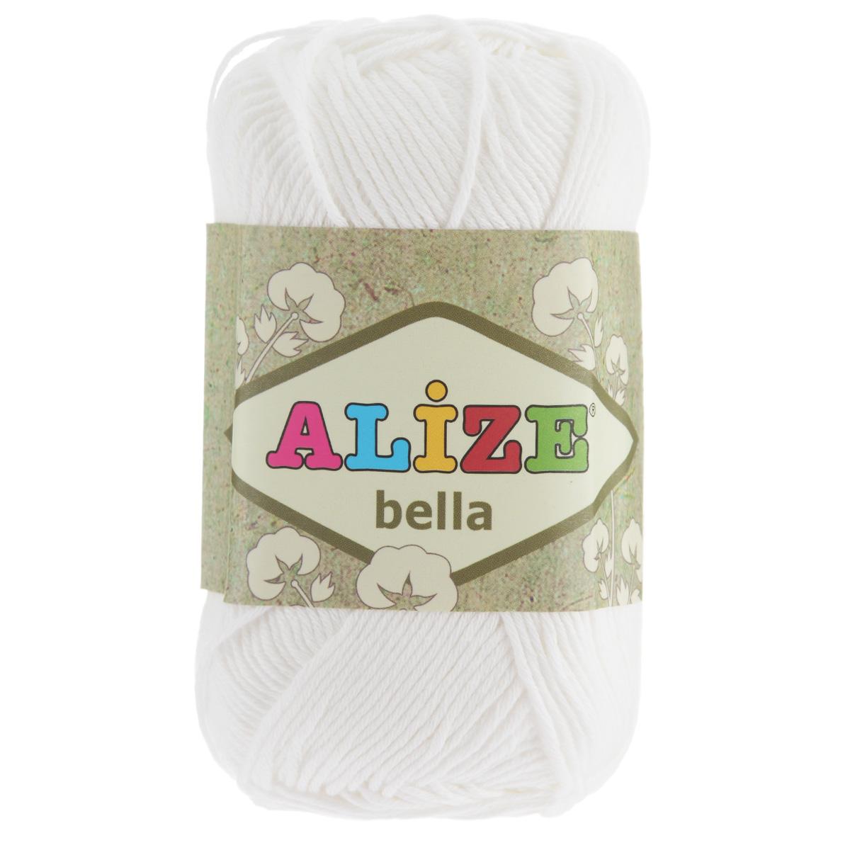 Пряжа для вязания Alize Bella, цвет: белый (55), 180 м, 50 г, 5 шт364124_55Пряжа Alize Bella подходит для ручного вязания детям и взрослым. Пряжа однотонная, приятная на ощупь, хорошо лежит в полотне. Изделия из такой нити получаются мягкие и красивые. Рекомендованные спицы 2-4 мм и крючок для вязания 1-3 мм. Комплектация: 5 мотков. Состав: 100% хлопок.