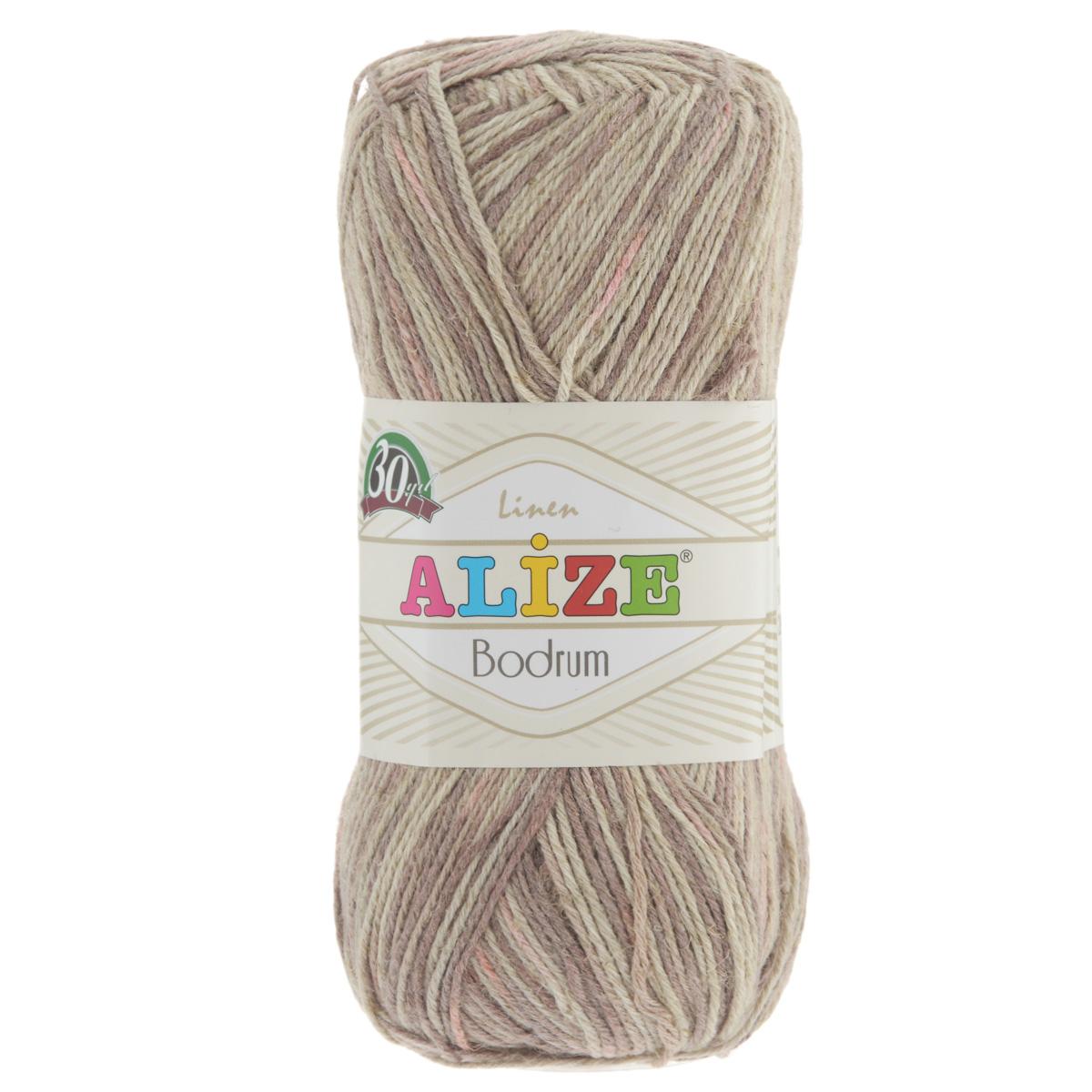 Пряжа для вязания Alize Bodrum, цвет: бежевый, коричневый, розовый (51429), 280 м, 100 г, 5 шт697547_51429Пряжа для вязания Alize Bodrum с натуральной цветовой гаммой подходит для ручного вязания детям и взрослым. Приятная на ощупь нить сочетает в себе лен и полиэстер. Такая пряжа идеально подойдет для вязания весенних и летних изделий. Рекомендованные спицы 3-5 мм и крючок для вязания 2-3 мм. Комплектация: 5 мотков. Состав: 48% лен, 52% полиэстер. Рекомендована ручная стирка.