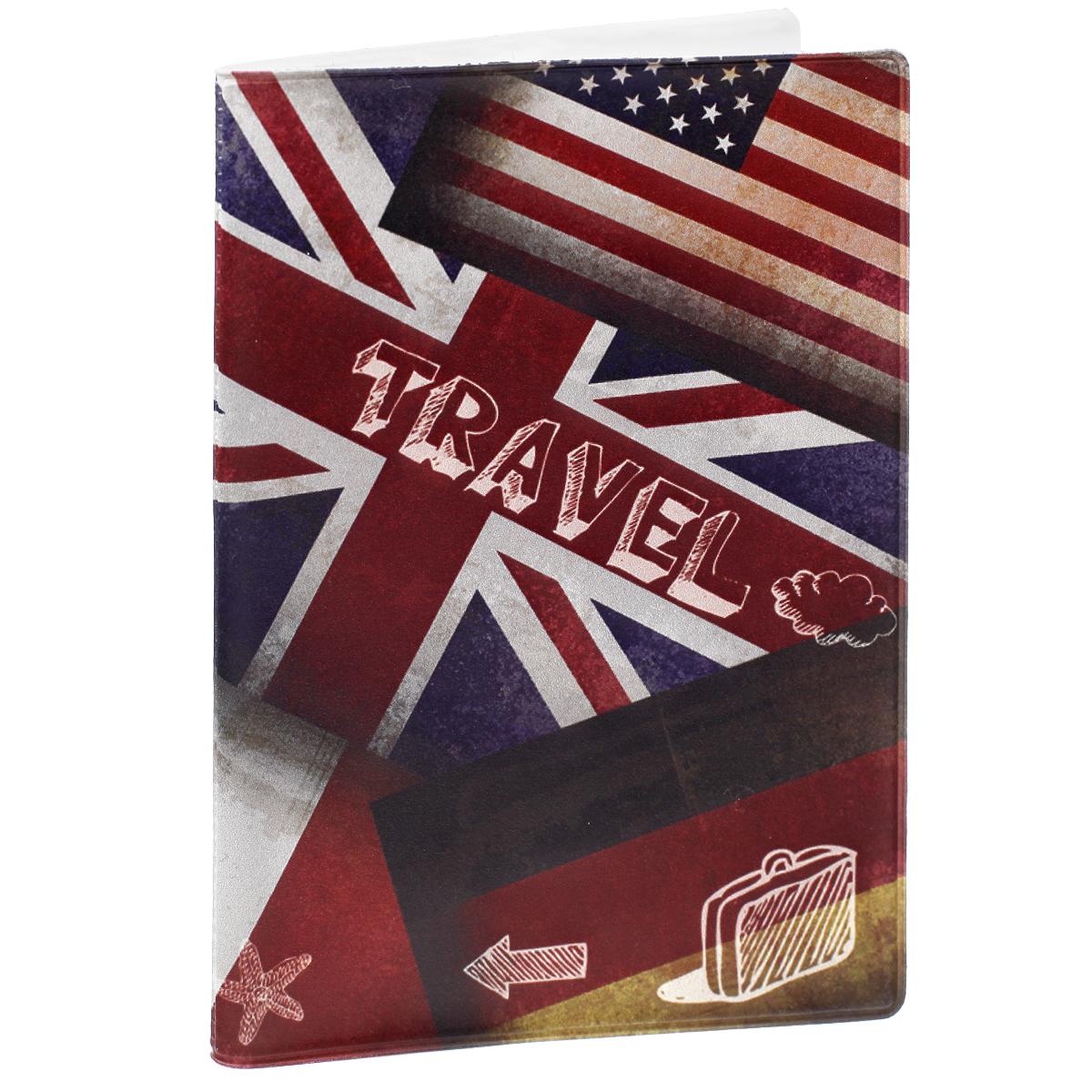 """Обложка для паспорта """"Флаги"""", цвет: разноцветный. 29057 Феникс-Презент"""