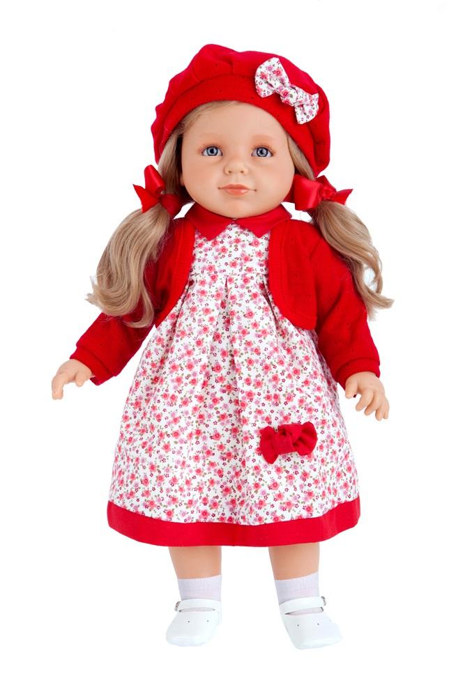 Кукла Antonio Juan «Анита», озвученная, цвет: красный, 55 см