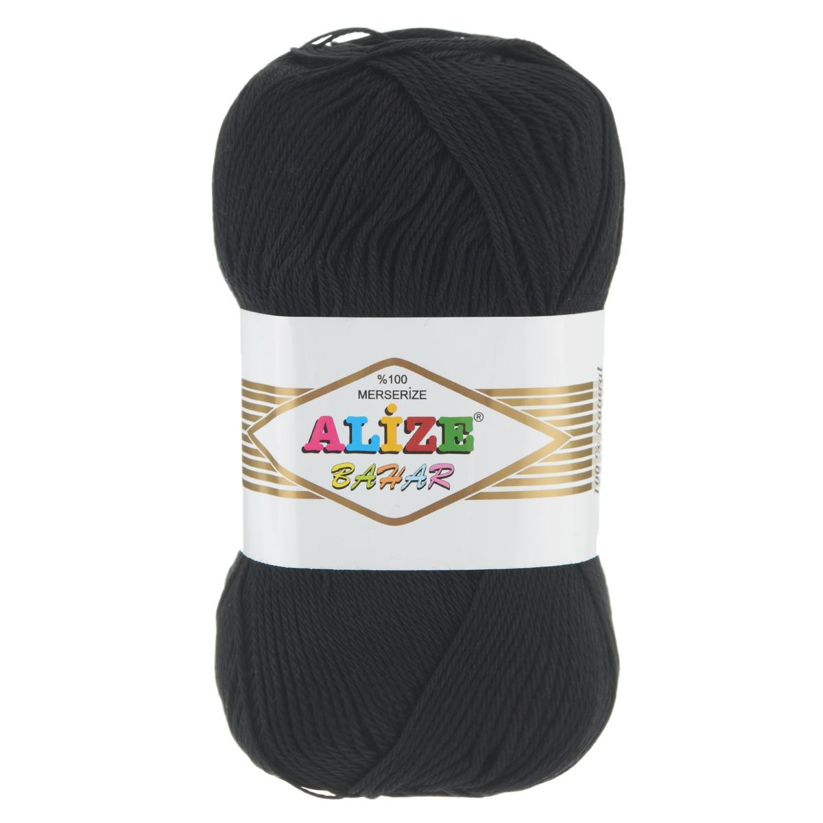 Пряжа для вязания Alize Bahar, цвет: черный (60), 260 м, 100 г, 5 шт364089_60Пряжа Alize Bahar подходит для ручного вязания детям и взрослым. Пряжа однотонная, приятная на ощупь, хорошо лежит в полотне. Изделия из такой нити получаются мягкие и красивые. Рекомендованные спицы 3-5 мм и крючок для вязания 2-4 мм. Комплектация: 5 мотков. Состав: 100% хлопок.