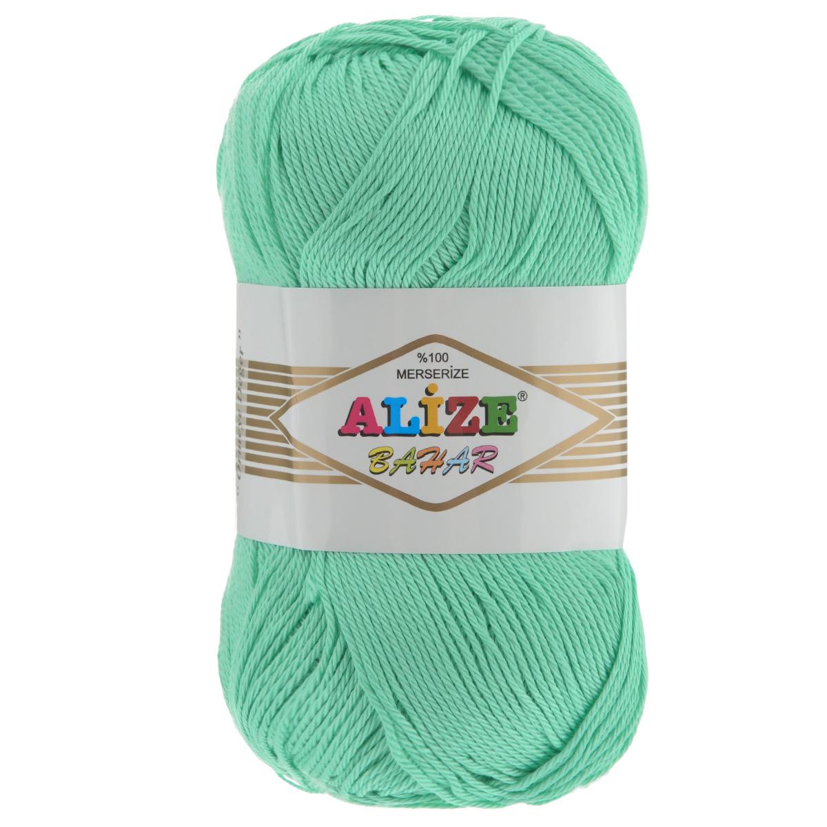 Пряжа для вязания Alize Bahar, цвет: салатовый (465), 260 м, 100 г, 5 шт364089_465Пряжа Alize Bahar подходит для ручного вязания детям и взрослым. Пряжа однотонная, приятная на ощупь, хорошо лежит в полотне. Изделия из такой нити получаются мягкие и красивые. Рекомендованные спицы 3-5 мм и крючок для вязания 2-4 мм. Комплектация: 5 мотков. Состав: 100% хлопок.