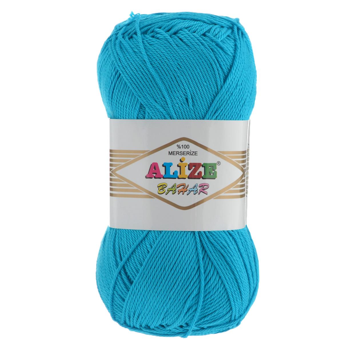 Пряжа для вязания Alize Bahar, цвет: бирюзовый (16), 260 м, 100 г, 5 шт364089_16Пряжа Alize Bahar подходит для ручного вязания детям и взрослым. Пряжа однотонная, приятная на ощупь, хорошо лежит в полотне. Изделия из такой нити получаются мягкие и красивые. Рекомендованные спицы 3-5 мм и крючок для вязания 2-4 мм. Комплектация: 5 мотков. Состав: 100% хлопок.