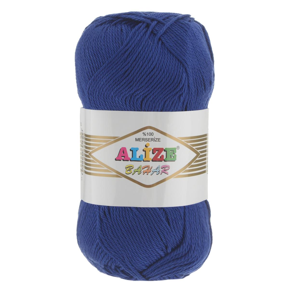 Пряжа для вязания Alize Bahar, цвет: полуночно-синий (360), 260 м, 100 г, 5 шт364089_360Пряжа Alize Bahar подходит для ручного вязания детям и взрослым. Пряжа однотонная, приятная на ощупь, хорошо лежит в полотне. Изделия из такой нити получаются мягкие и красивые. Рекомендованные спицы 3-5 мм и крючок для вязания 2-4 мм. Комплектация: 5 мотков. Состав: 100% хлопок.