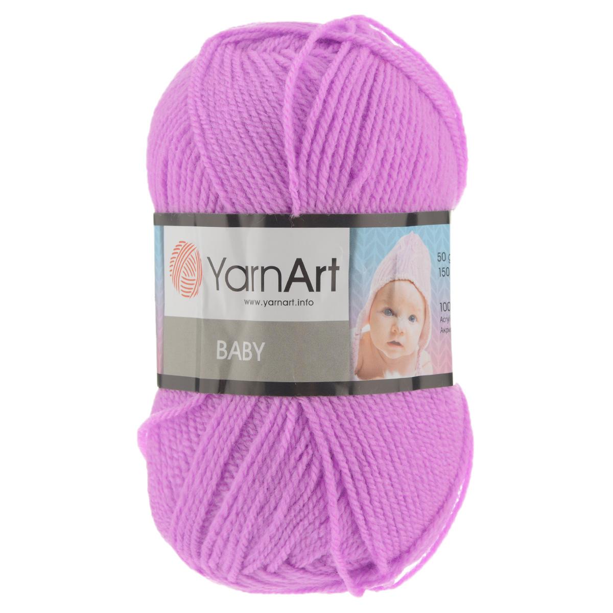 Пряжа для вязания YarnArt Baby, цвет: розовый (635), 150 м, 50 г, 5 шт пряжа для вязания yarnart baby color цвет белый черный 273 150 м 50 г 5 шт