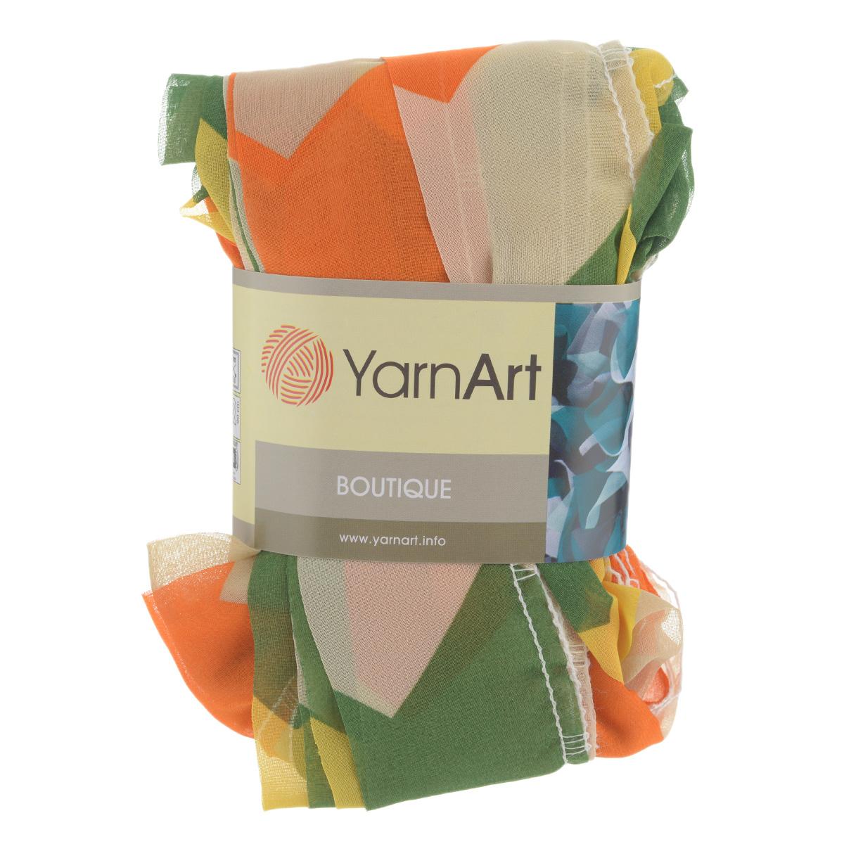Пряжа для вязания YarnArt Boutiqoe, цвет: бежевый, оранжевый, зеленый (160), 19 м, 50 г, 4 шт694746_160Пряжа YarnArt Boutiqoe - фантазийная ленточная пряжа, состоящая из 95% микро полиэстера и 5% акрила. Представляет из себя широкую ленту с обработанным краем с одной стороны. Прекрасно подойдет для вязания шарфов, аксессуаров, а также для отделки изделий. Стирать при температуре 40°С. Рекомендованные для вязания спицы 5 мм. Состав: 95% микро полиэстер, 5% акрил.