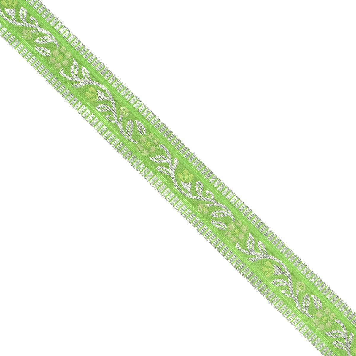 Тесьма декоративная Астра, цвет: зеленый (1), ширина 1,8 см, длина 16,4 м. 77032657703265_1Декоративная тесьма Астра выполнена из текстиля и оформлена оригинальным орнаментом. Такая тесьма идеально подойдет для оформления различных творческих работ таких, как скрапбукинг, аппликация, декор коробок и открыток и многое другое. Тесьма наивысшего качества и практична в использовании. Она станет незаменимым элементом в создании рукотворного шедевра. Ширина: 1,8 см. Длина: 16,4 м.