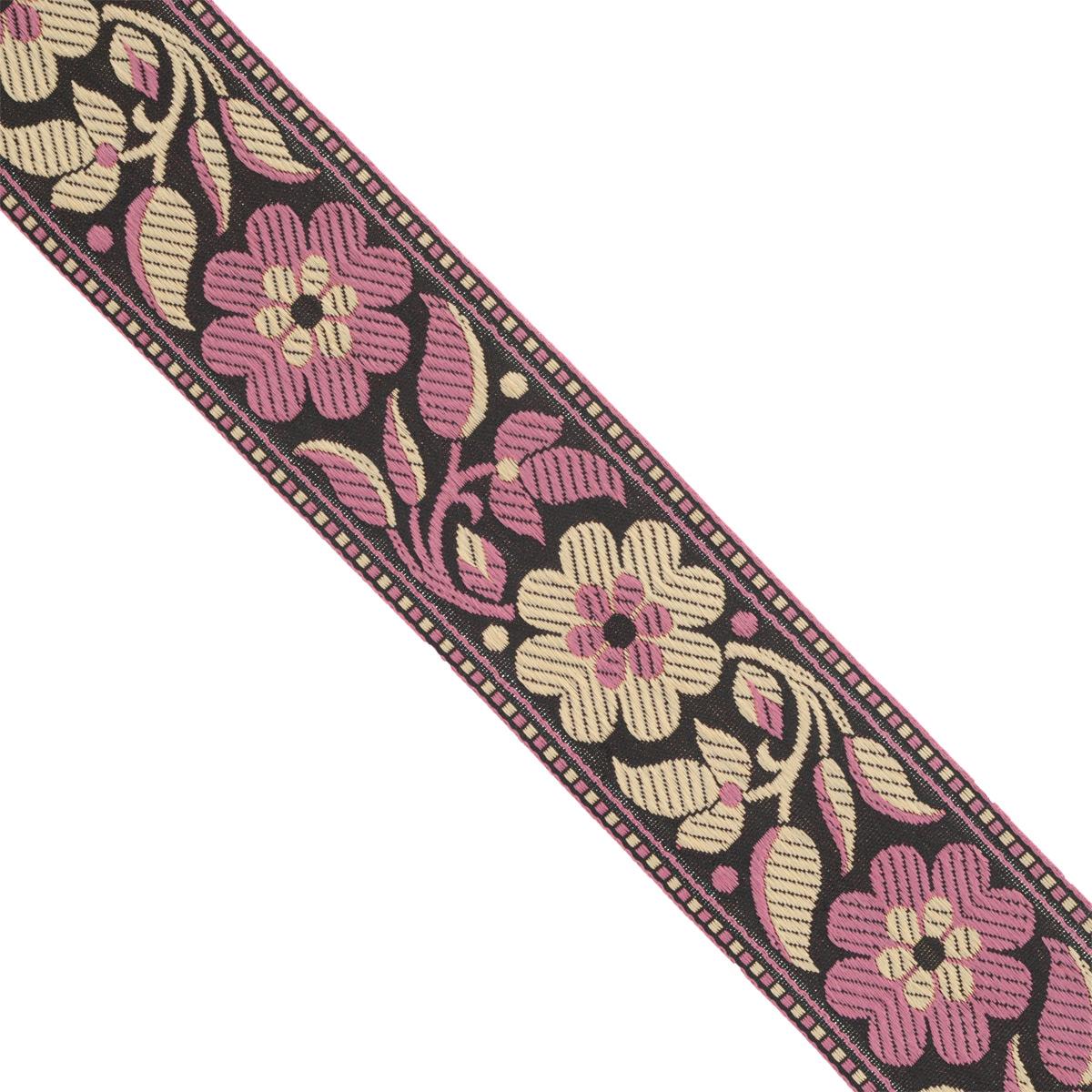 Тесьма декоративная Астра, цвет: черный, ширина 4,5 см, длина 16,4 м. 77033457703345Декоративная тесьма Астра выполнена из текстиля и оформлена оригинальным орнаментом. Такая тесьма идеально подойдет для оформления различных творческих работ таких, как скрапбукинг, аппликация, декор коробок и открыток и многое другое. Тесьма наивысшего качества и практична в использовании. Она станет незаменимым элементом в создании рукотворного шедевра. Ширина: 4,5 см. Длина: 16,4 м.