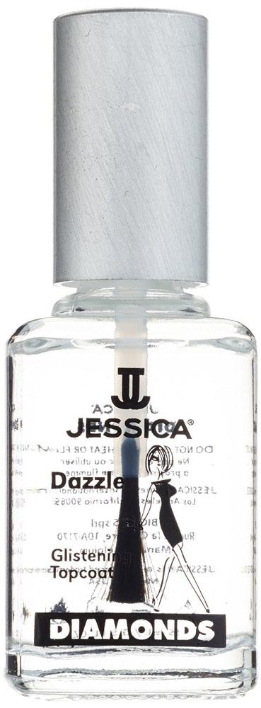 Jessica Закрепитель с бриллиантовым порошком DIMONDS Dazzle 15 млUP 146Закрепитель с бриллиантовым порошком. Защитная формула с бриллиантовыми частичками. Оберегает ногти от повреждений, сколов и пожелтения лака. Придает маникюру непревзойденный блеск.