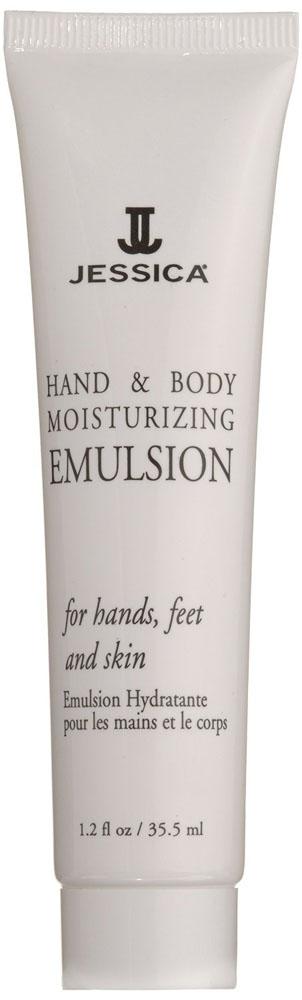Jessica Увлажняюшая эмульсия для рук и тела с пантенолом Hand&Body Moisturizing Emulsion 45 млUP 919Содержит интенсивные восстанавливающие компоненты, поддерживающие гидро-липидный баланс кожи, делая ее шелковистой. Предупреждает преждевременное старение кожи и потерю эластичности. Обладает отбеливающим эффектом.