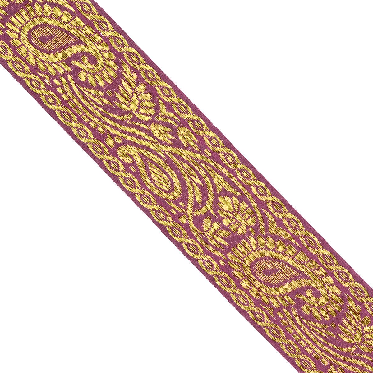 Тесьма декоративная Астра, цвет: бордовый, ширина 3,2 см, длина 16,4 м. 77034007703400Декоративная тесьма Астра выполнена из текстиля и оформлена оригинальным орнаментом. Такая тесьма идеально подойдет для оформления различных творческих работ таких, как скрапбукинг, аппликация, декор коробок и открыток и многое другое. Тесьма наивысшего качества и практична в использовании. Она станет незаменимым элементом в создании рукотворного шедевра. Ширина: 3,2 см. Длина: 16,4 м.