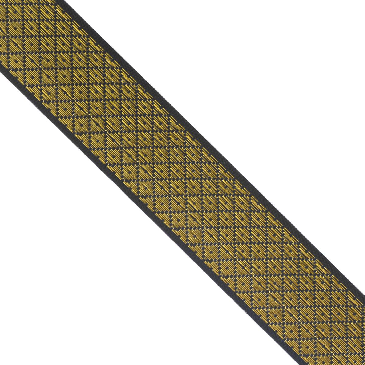 Тесьма декоративная Астра, цвет: золотой, синий (266), ширина 2 см, длина 25 м. 77034167703416_266Декоративная тесьма Астра выполнена из текстиля и оформлена оригинальным жаккардовым орнаментом. Такая тесьма идеально подойдет для оформления различных творческих работ таких, как скрапбукинг, аппликация, декор коробок и открыток и многое другое. Тесьма наивысшего качества и практична в использовании. Она станет незаменимым элементом в создании рукотворного шедевра. Ширина: 2 см. Длина: 25 м.