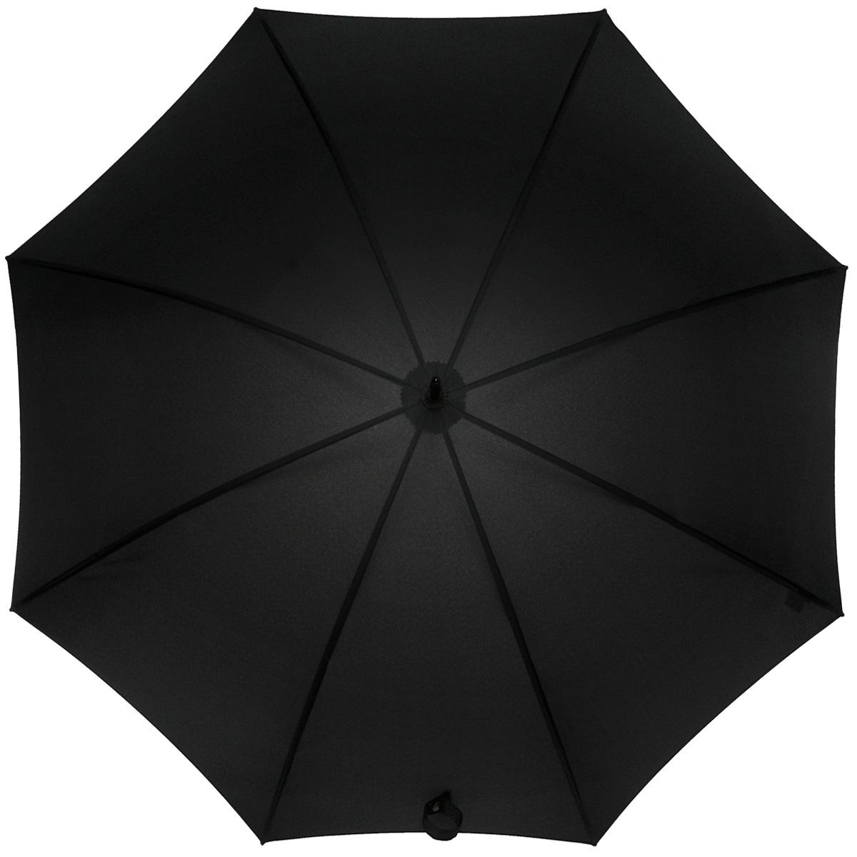 Зонт-трость мужской Zest, механический, цвет: черный. 4154041540Мужской механический зонт-трость Zest даже в ненастную погоду позволит вам оставаться стильным. Каркас зонта состоит из восьми двойных спиц и прочного стержня из металла. Специальная система Windproof защищает его от поломок во время сильных порывов ветра. Купол зонта черного цвета выполнен из прочного полиэстера с водоотталкивающей пропиткой. Используемые высококачественные красители, а также покрытие Teflon обеспечивают длительное сохранение свойств ткани купола. Рукоятка закругленной формы, разработанная с учетом требований эргономики, выполнена из пластика и обтянута искусственной кожей черного цвета. Зонт имеет механический тип сложения: купол открывается и закрывается вручную до характерного щелчка. Такой зонт не только надежно защитит вас от дождя, но и станет стильным аксессуаром. Характеристики: Материал: полиэстер, пластик, металл, искусственная кожа. Диаметр купола: 110 см. Цвет: черный. Длина стержня зонта: 77 см. Количество...
