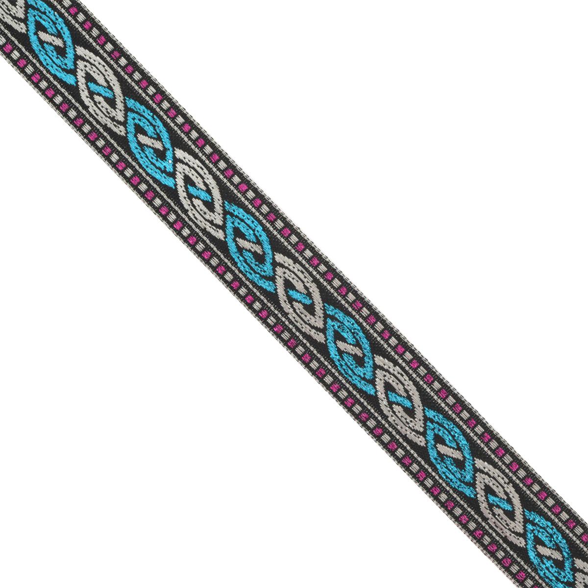 Тесьма декоративная Астра, цвет: черный, ширина 2 см, длина 16,4 м. 77032757703275Декоративная тесьма Астра выполнена из текстиля и оформлена оригинальным орнаментом. Такая тесьма идеально подойдет для оформления различных творческих работ таких, как скрапбукинг, аппликация, декор коробок и открыток и многое другое. Тесьма наивысшего качества и практична в использовании. Она станет незаменимым элементом в создании рукотворного шедевра. Ширина: 2 см. Длина: 16,4 м.