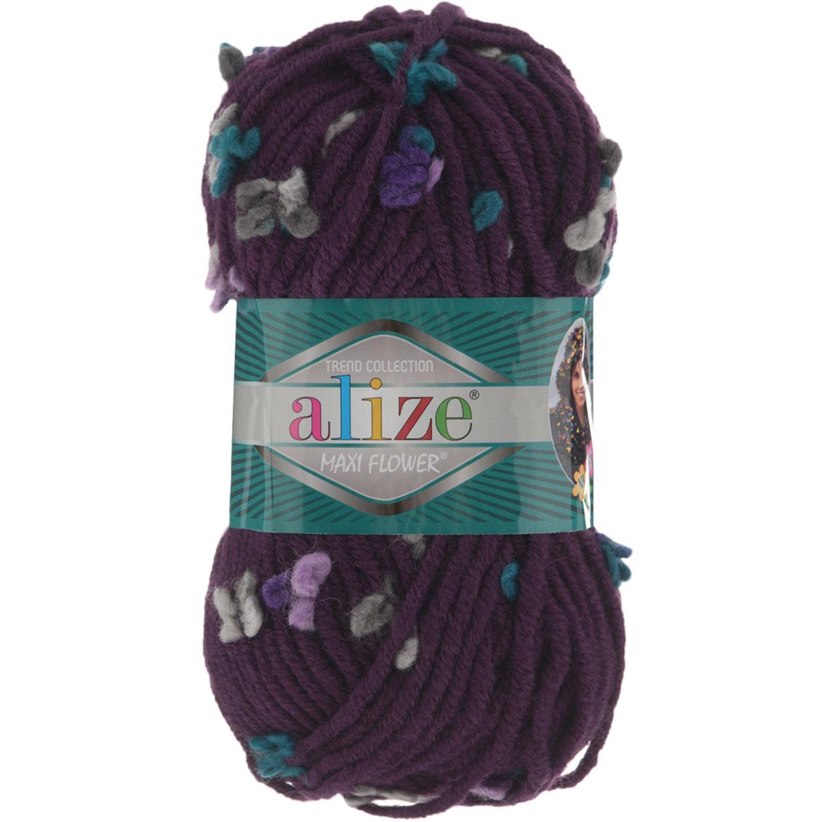 Пряжа для вязания Alize Flower, цвет: фуксия, зеленый, розовый (5083), 80 м, 100 г, 5 шт693451_5083Пряжа для вязания Alize Flower - это однотонная ровная нить, которая состоит из шерсти и акрила, с пришитыми по всей длине маленькими шерстяными разноцветными цветочками. Скручена нитка слабо, цветочки друг от друга находятся на одинаковом расстоянии и крепятся одной из ниток довольно прочно. Пряжа достаточно комфортная, и приятная, легко распускается и позволяет перевязывать изделия, если вы аккуратно обходились с цветочками. Нитки прочные, сохраняют свою скрученность, не расслаиваются. Эта оригинальная пряжа будет хорошо смотреться на всевозможных детских изделиях - жилетах, платьицах, а также хорошо ею вязать шапки, шарфы, снуды. Предназначена для ручного вязания спицами, теплая и мягкая. Рекомендованные спицы № 7-10, крючок № 6-7. Состав: 70% акрил, 25% шерсть, 5% полиамид.
