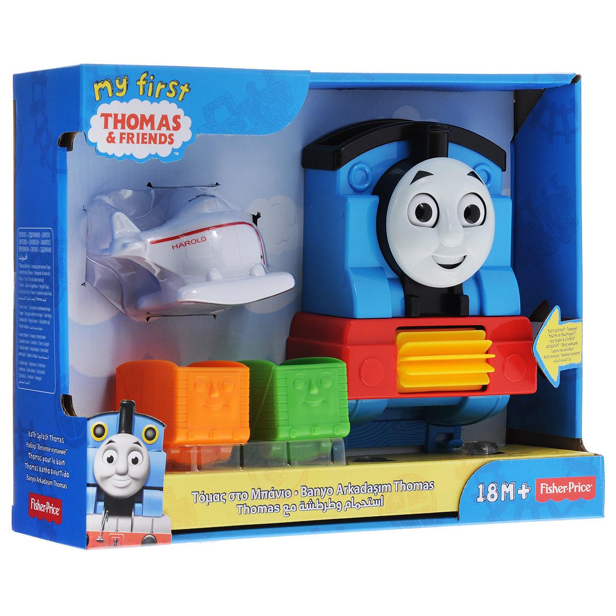 Thomas&Friends Игровой набор Веселое купаниеCDN11Игровой набор Thomas&Friends Веселое купание поможет вам превратить любое купание малыша в веселую и увлекательную игру. Набор выполнен из безопасного пластика и включает в себя игрушку в виде передней части паровозика Томаса с вертушкой, две присоски для закрепления игрушки, чашка для зачерпывания воды в виде вертолетика без винта и два вагончика с отверстиями в дне. Если налить воду в верхнюю часть игрушки, глаза и рот Томаса, а также вертушка придут в движение. Игрушка надежно крепится к кафельной стене при помощи присосок и имеет специальные крючки, на которые можно подвесить вагончики. Игровой набор для ванны Thomas&Friends Веселое купание малыш полюбит купание, а также сможет узнать что-то новое, не вылезая из ванной! Порадуйте своего малыша таким замечательным подарком!